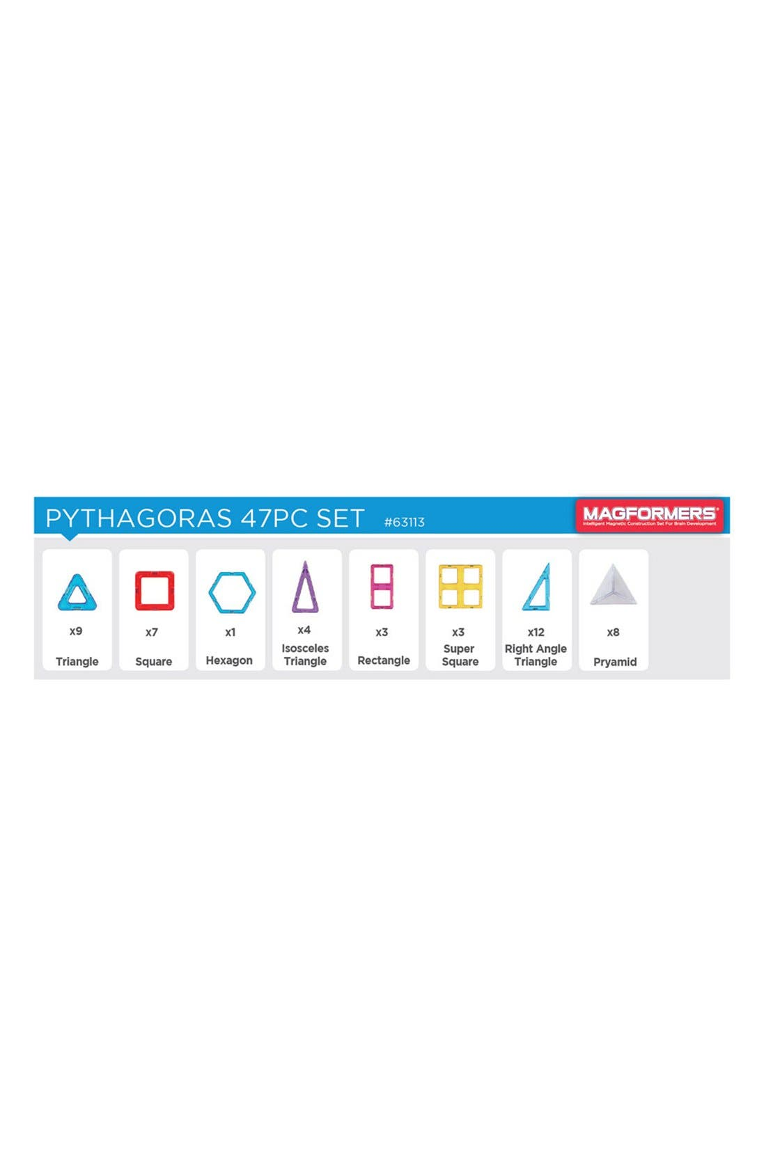 'Pythagoras' Magnetic Construction Set,                             Alternate thumbnail 3, color,                             Rainbow