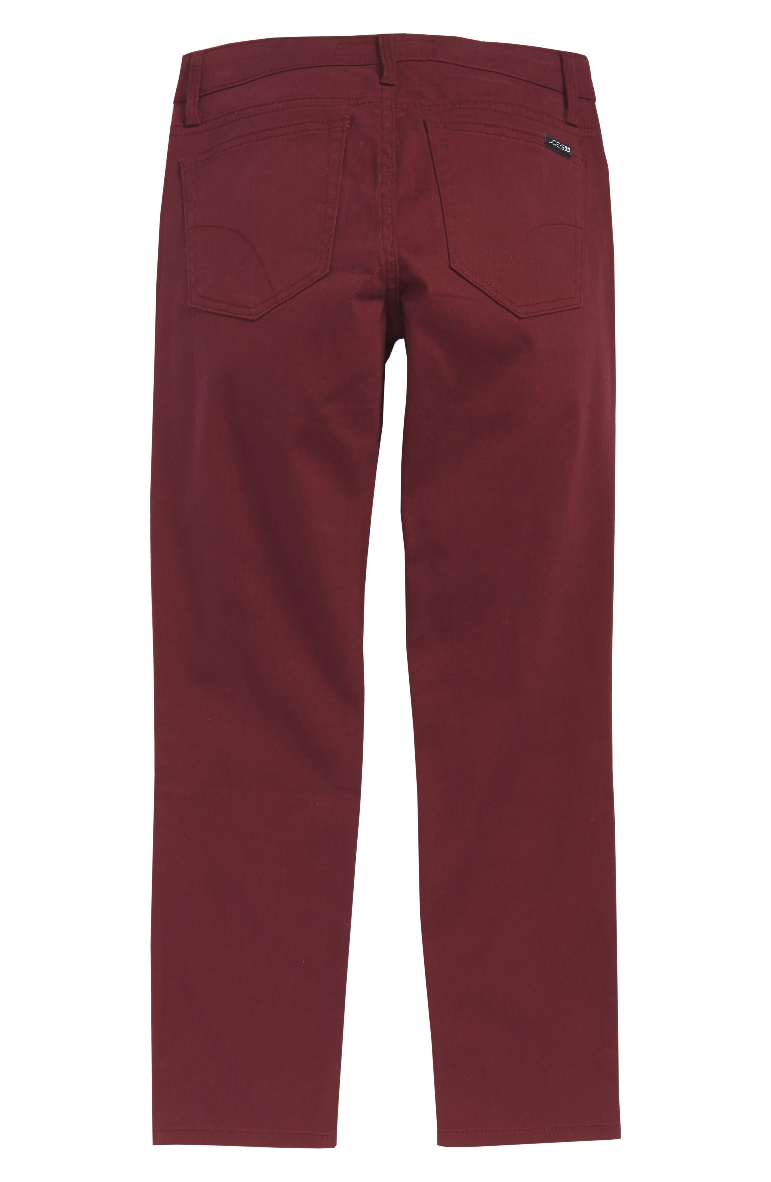 Brixton Straight Leg Stretch Twill Pants,                             Alternate thumbnail 2, color,                             WINE