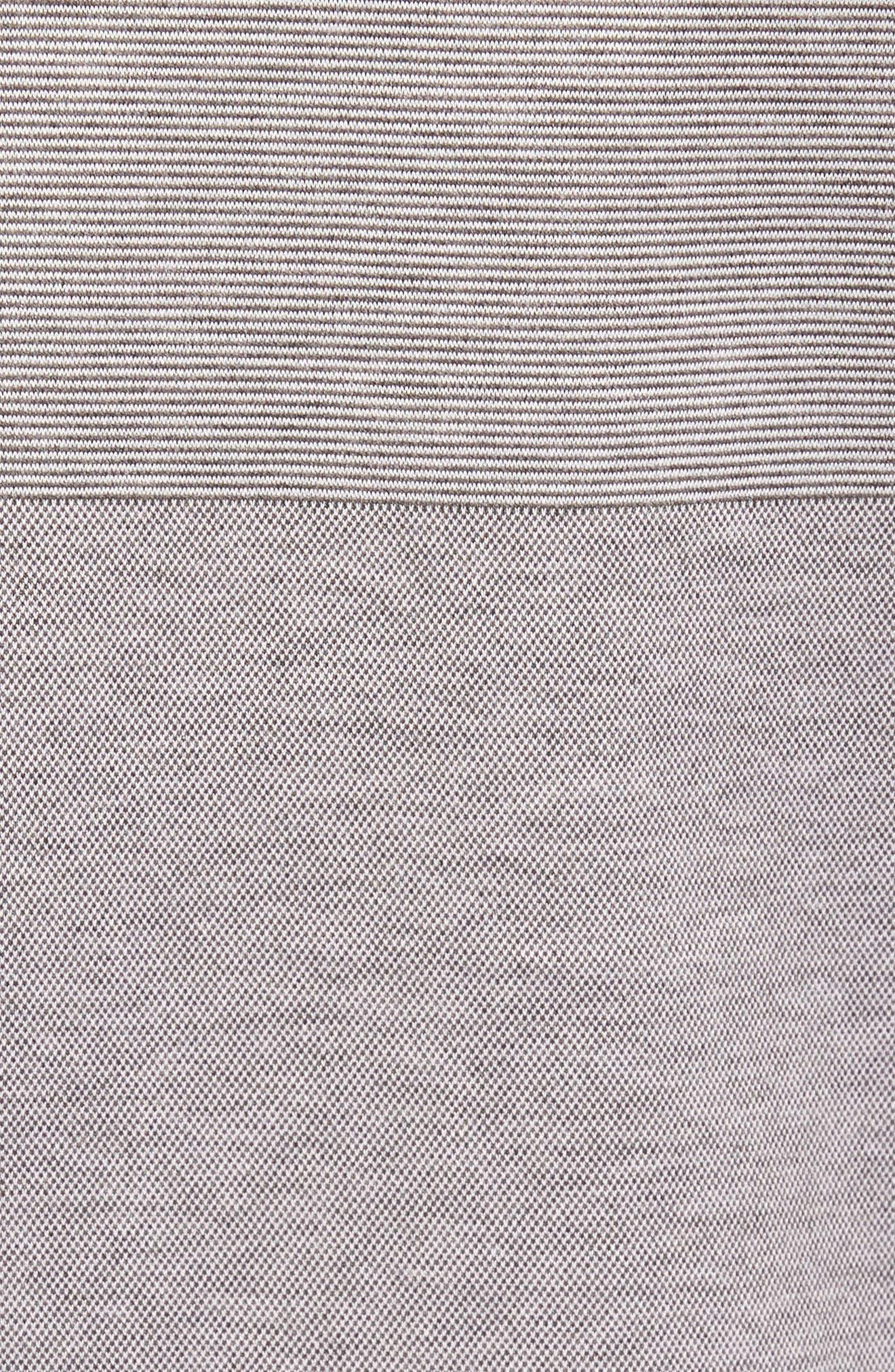 Slim Fit Stripe V-Neck T-Shirt,                             Alternate thumbnail 5, color,                             030