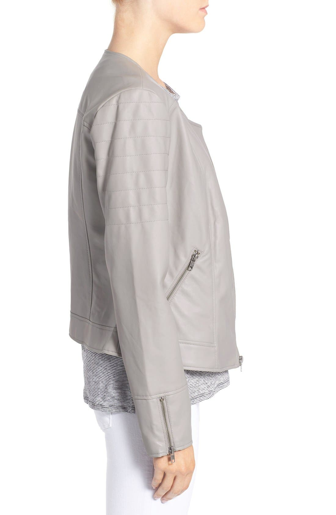 'Kadence' Faux Leather Asymmetrical Moto Jacket,                             Alternate thumbnail 2, color,