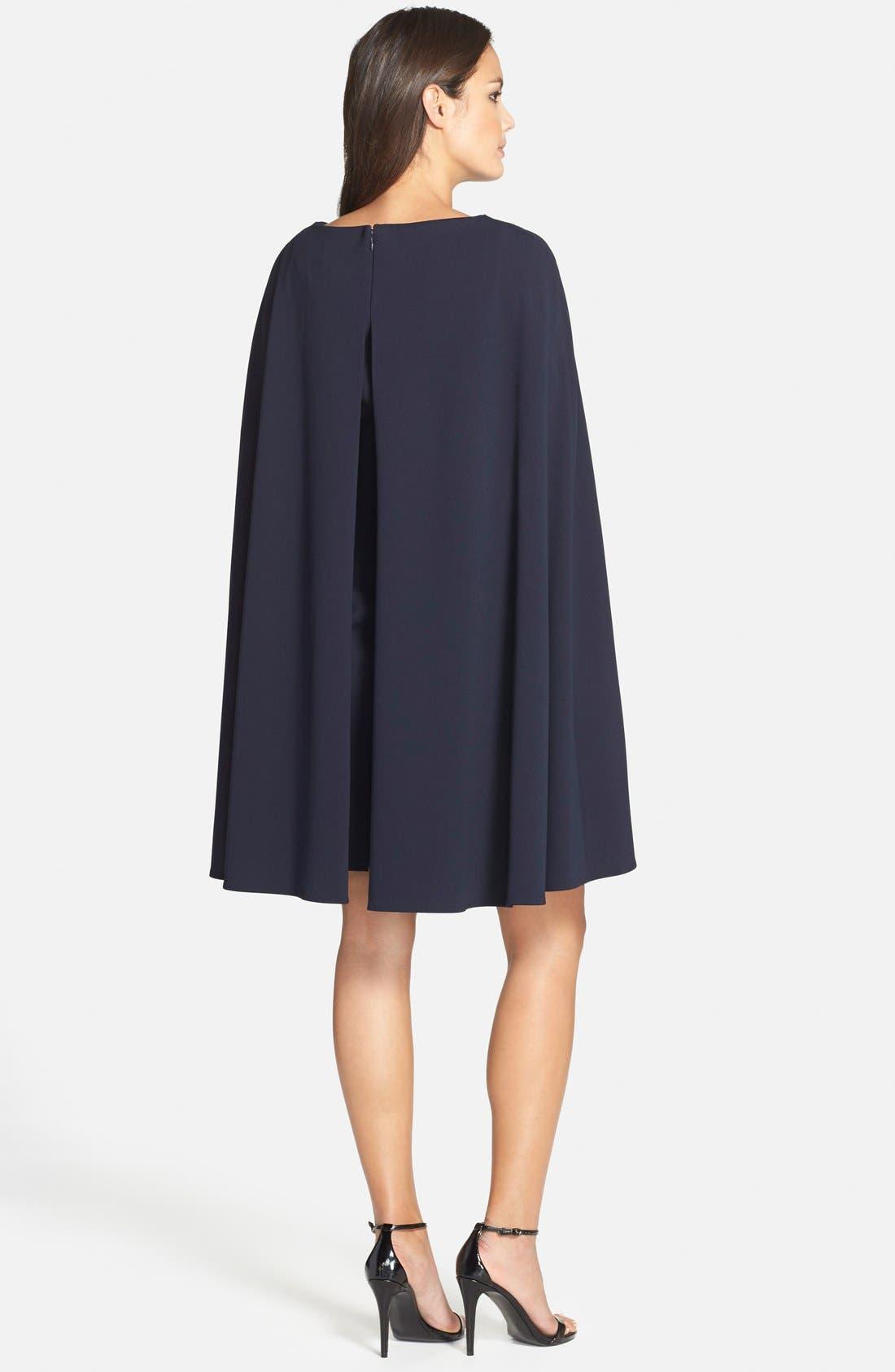 ADRIANNA PAPELL,                             Cape Sheath Dress,                             Alternate thumbnail 2, color,                             412