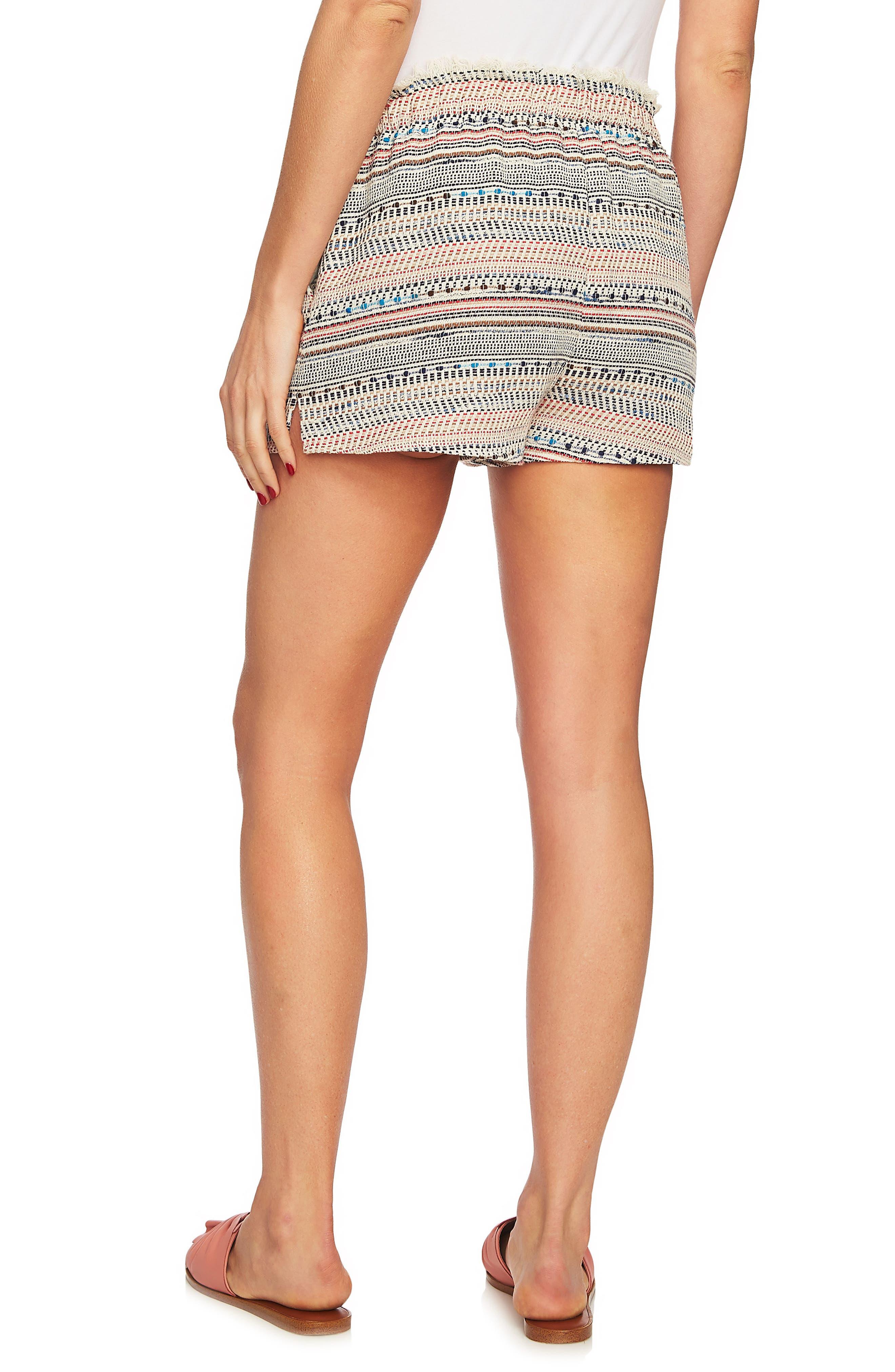 Paperbag Waist Tweed Shorts,                             Alternate thumbnail 2, color,                             908