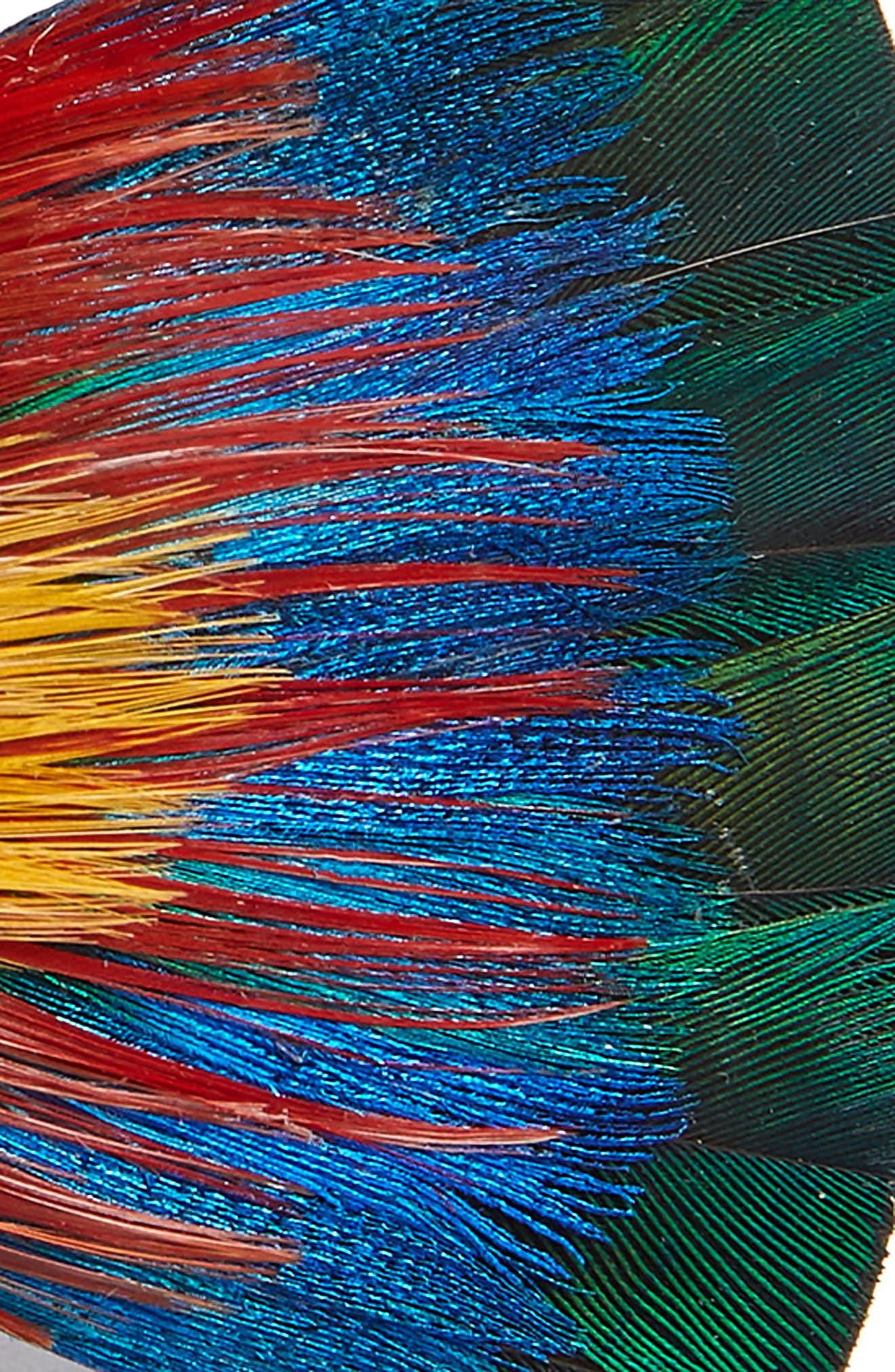Spectrum Feather Bow Tie,                             Alternate thumbnail 2, color,                             BLUE