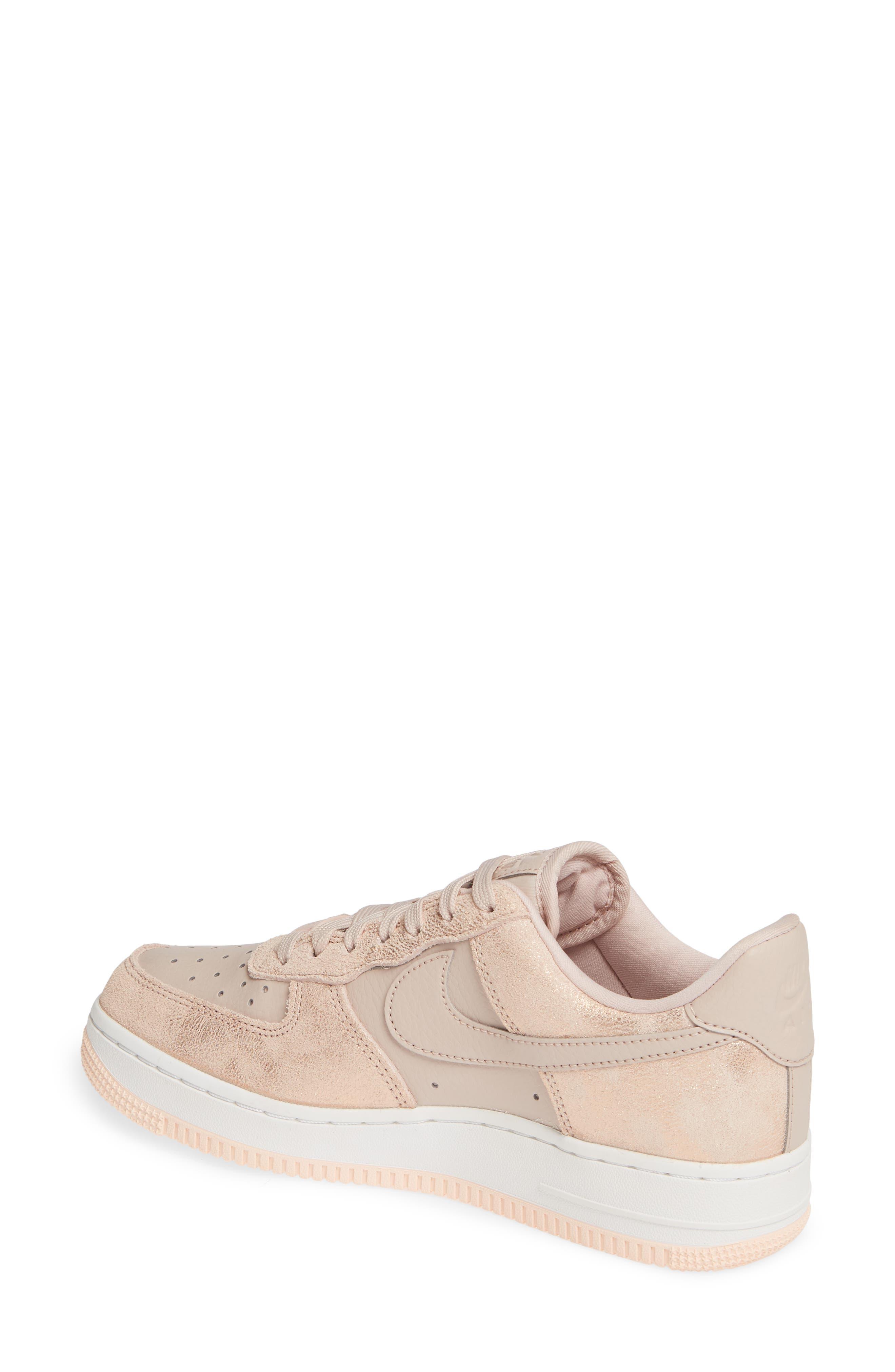 Air Force 1 '07 Premium Sneaker,                             Alternate thumbnail 2, color,                             RED BRONZE/ PARTICLE BEIGE