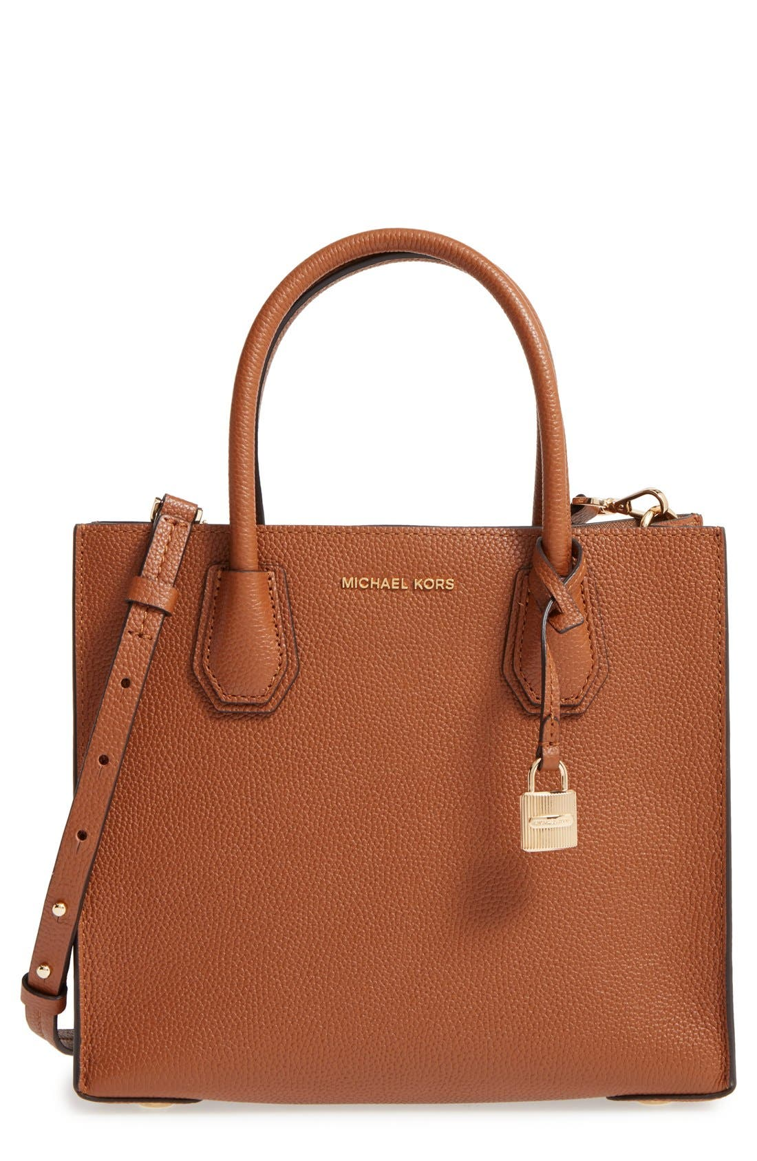 'Medium Mercer' Leather Tote,                             Main thumbnail 5, color,