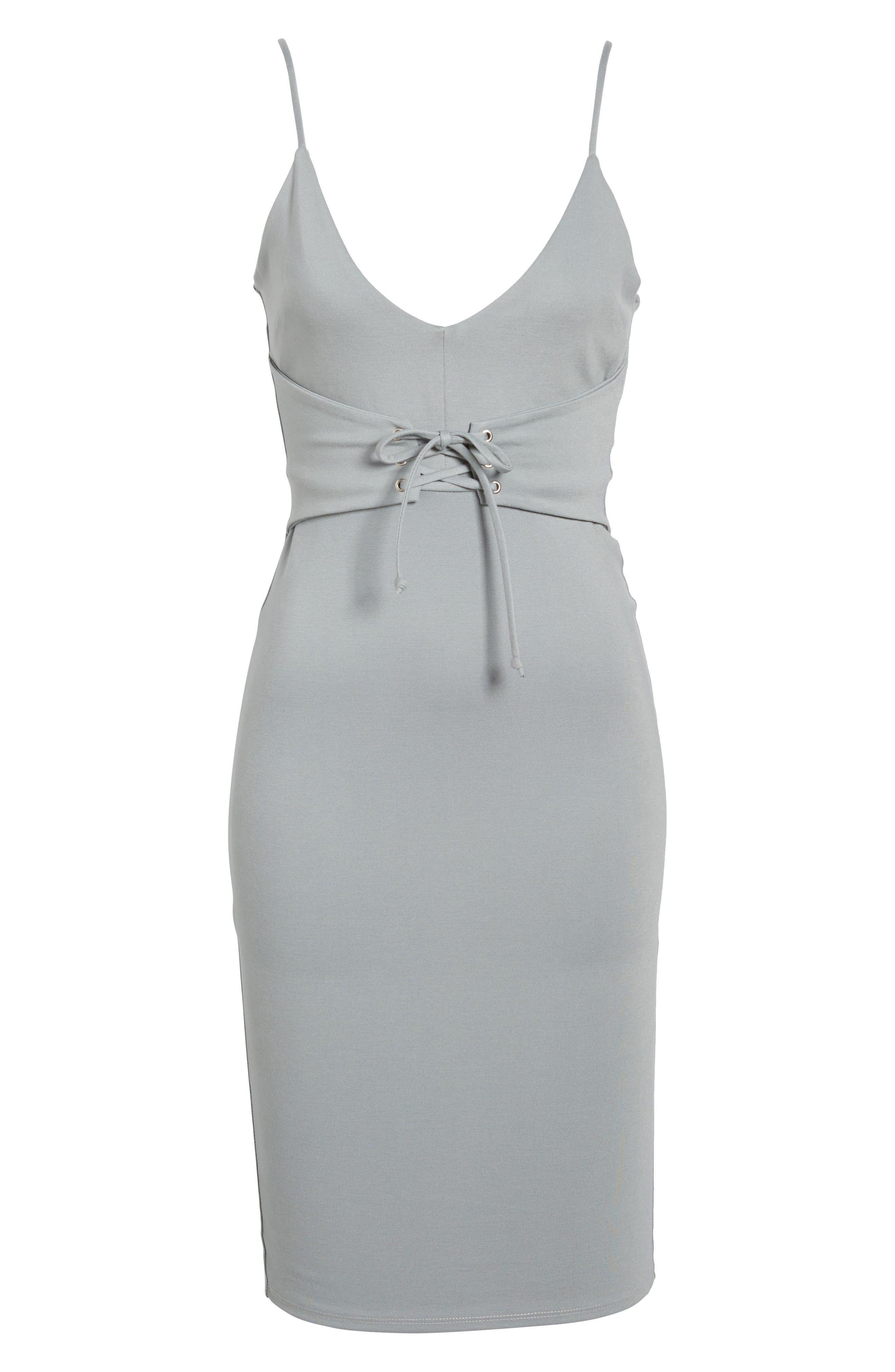 Corset Detail Body-Con Dress,                             Alternate thumbnail 12, color,