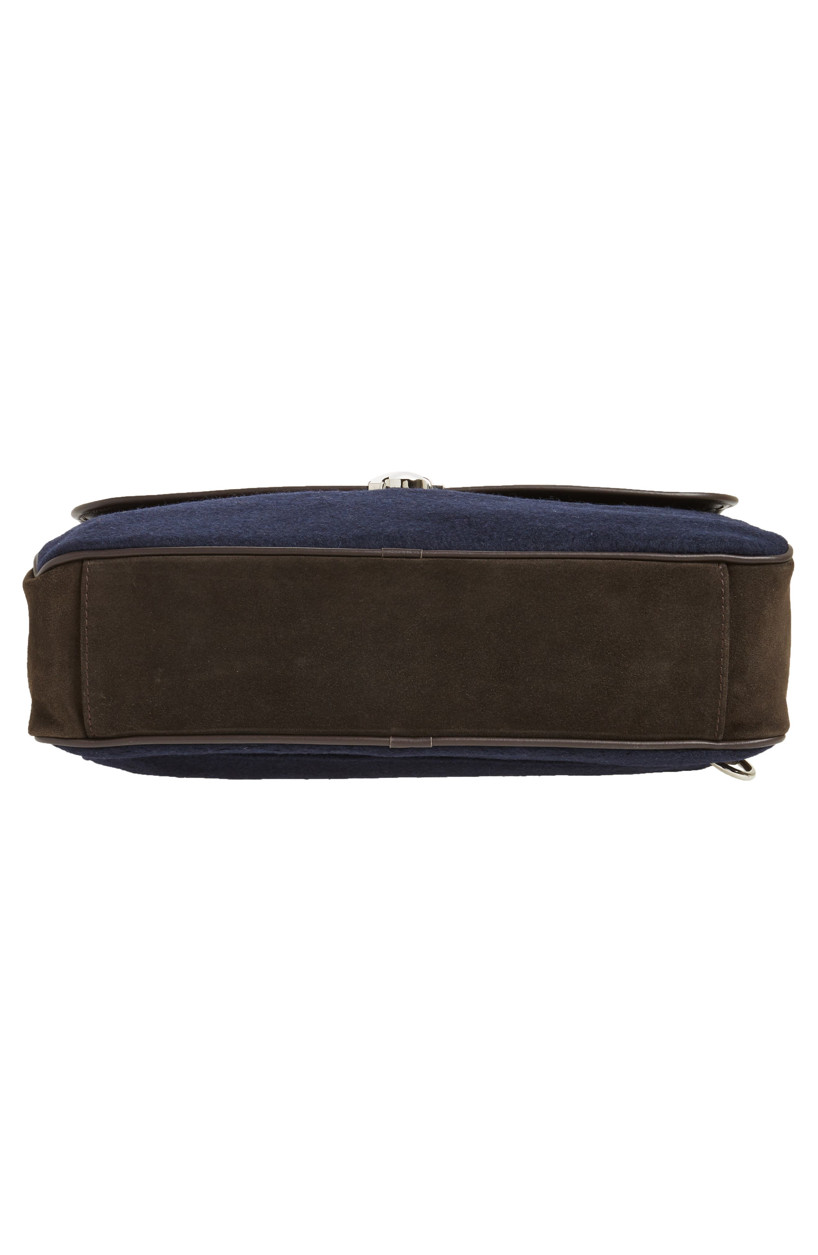 Leather & Wool Convertible Briefcase,                             Alternate thumbnail 6, color,                             205