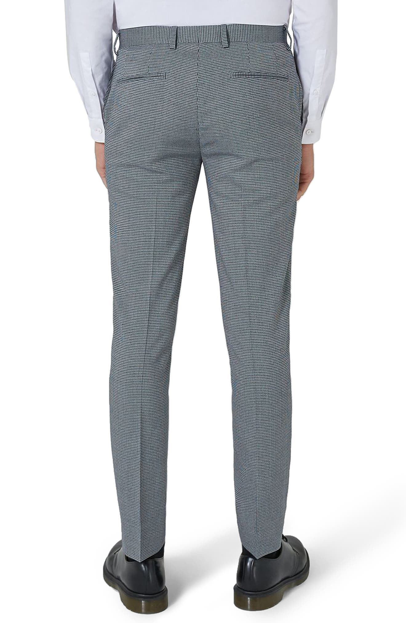 Skinny Fit Houndstooth Suit Trousers,                             Alternate thumbnail 2, color,                             300