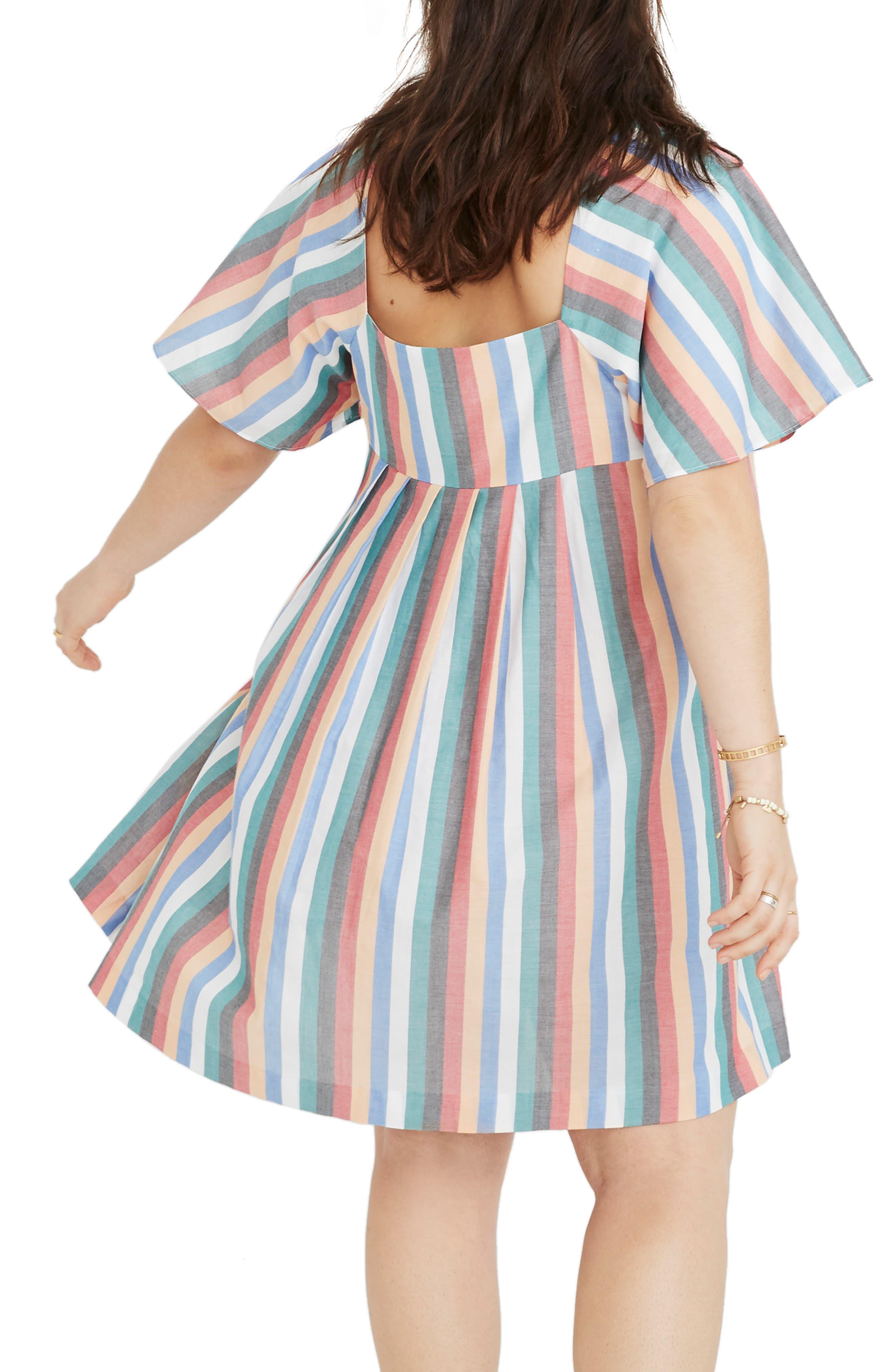 Square Neck Minidress,                             Alternate thumbnail 7, color,                             400