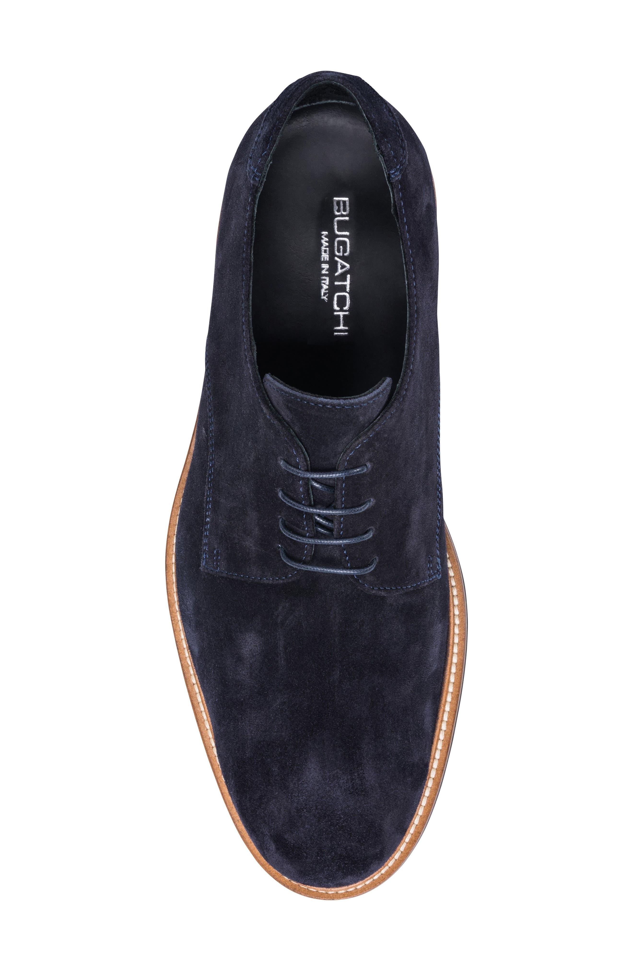 Siena Plain Toe Derby,                             Alternate thumbnail 5, color,                             BLUE SUEDE