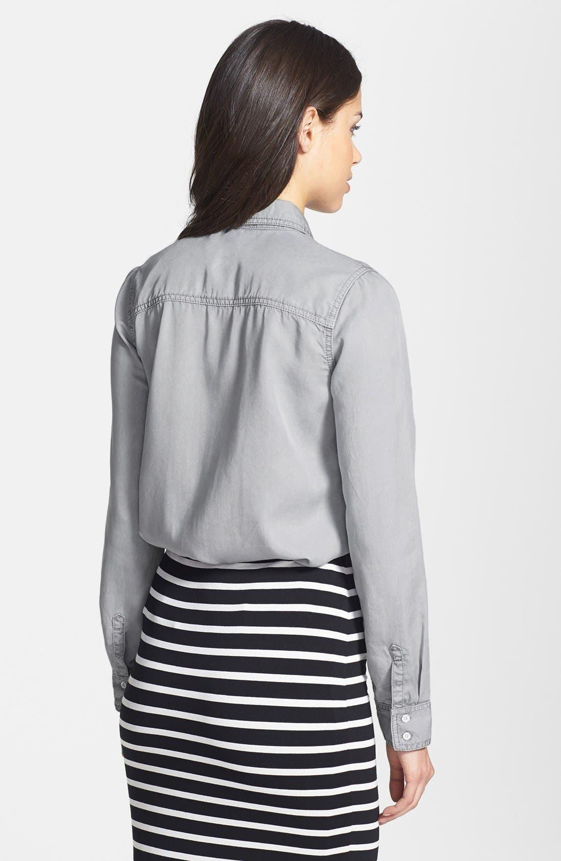 Long Sleeve Chambray Shirt,                             Alternate thumbnail 3, color,                             020