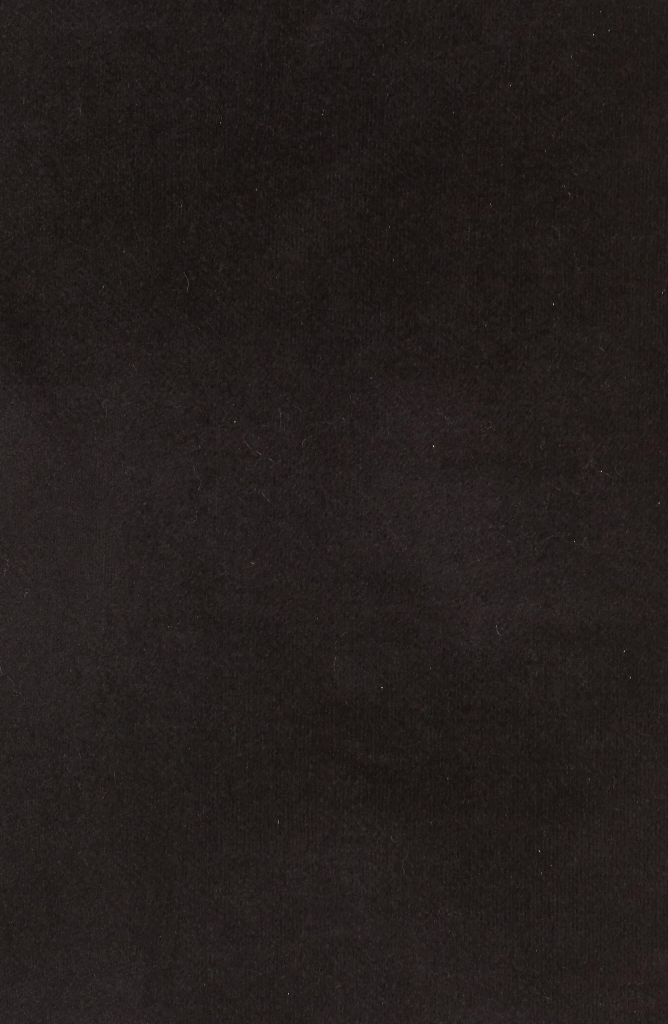 Shir Thing Long Velvet Bomber,                             Alternate thumbnail 6, color,                             001