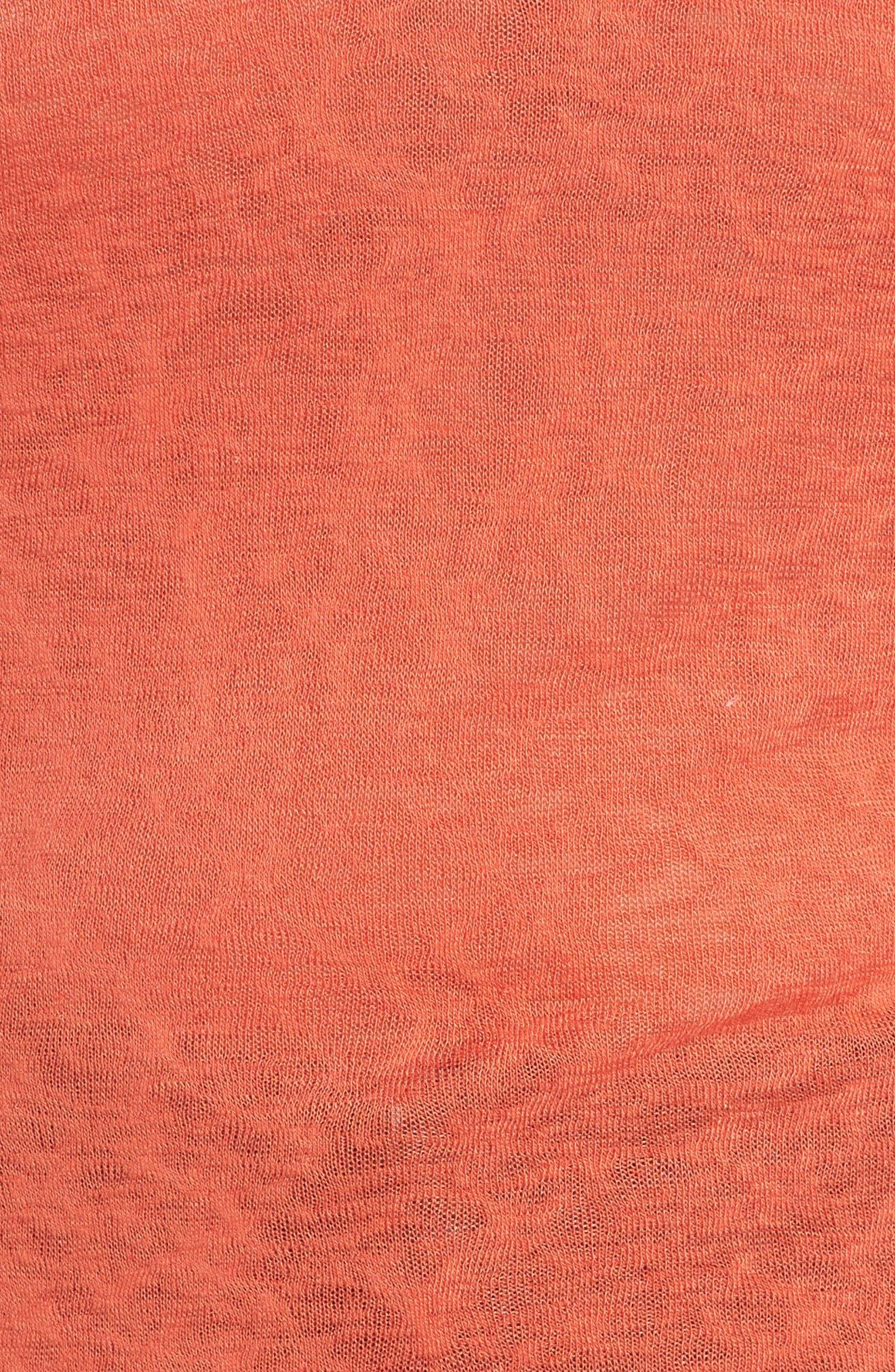 Tassel Trim Slub Knit Top,                             Alternate thumbnail 5, color,                             800