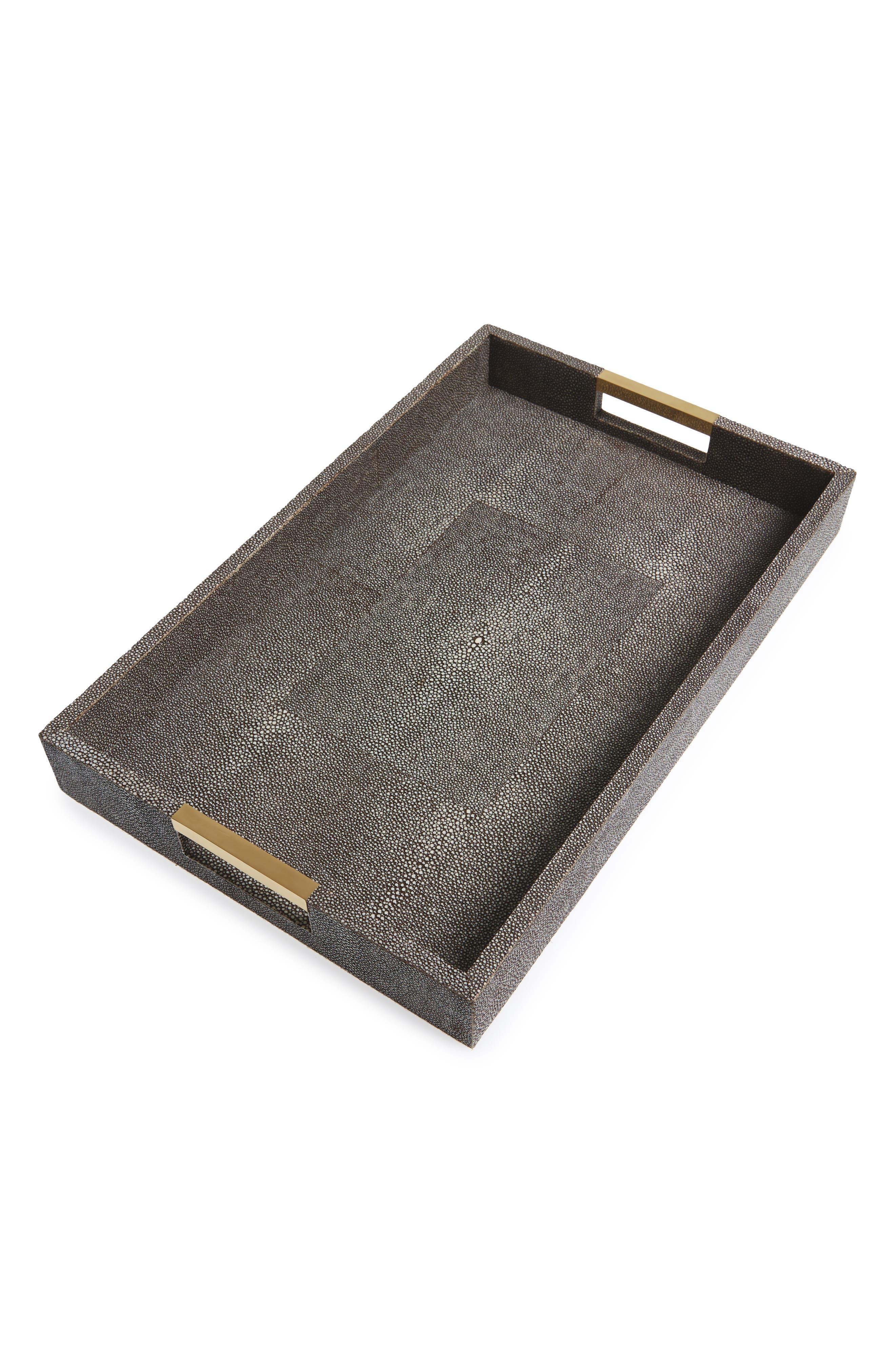 Modern Shagreen Desk Tray,                         Main,                         color, BROWN