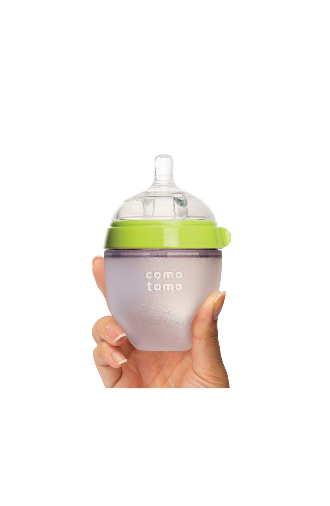 Slow Flow Baby Bottle,                             Alternate thumbnail 2, color,                             GREEN