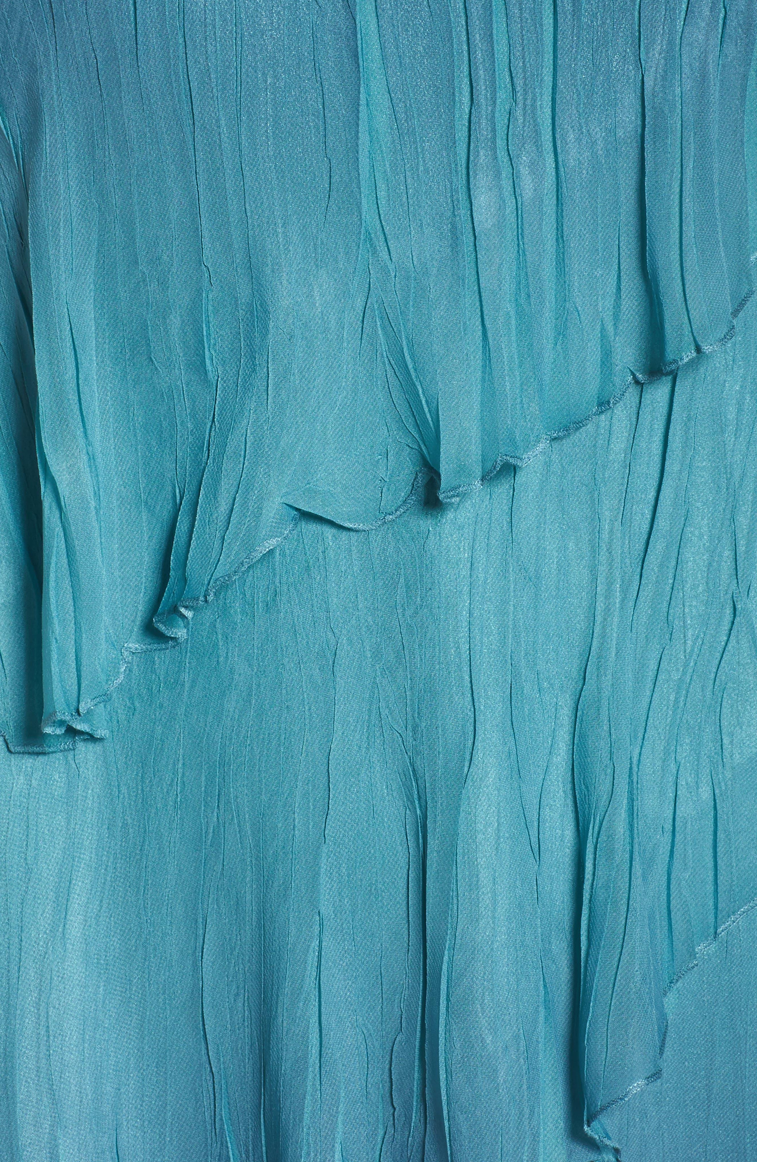 Tiered Chiffon Shift Dress with Shawl,                             Alternate thumbnail 6, color,                             491