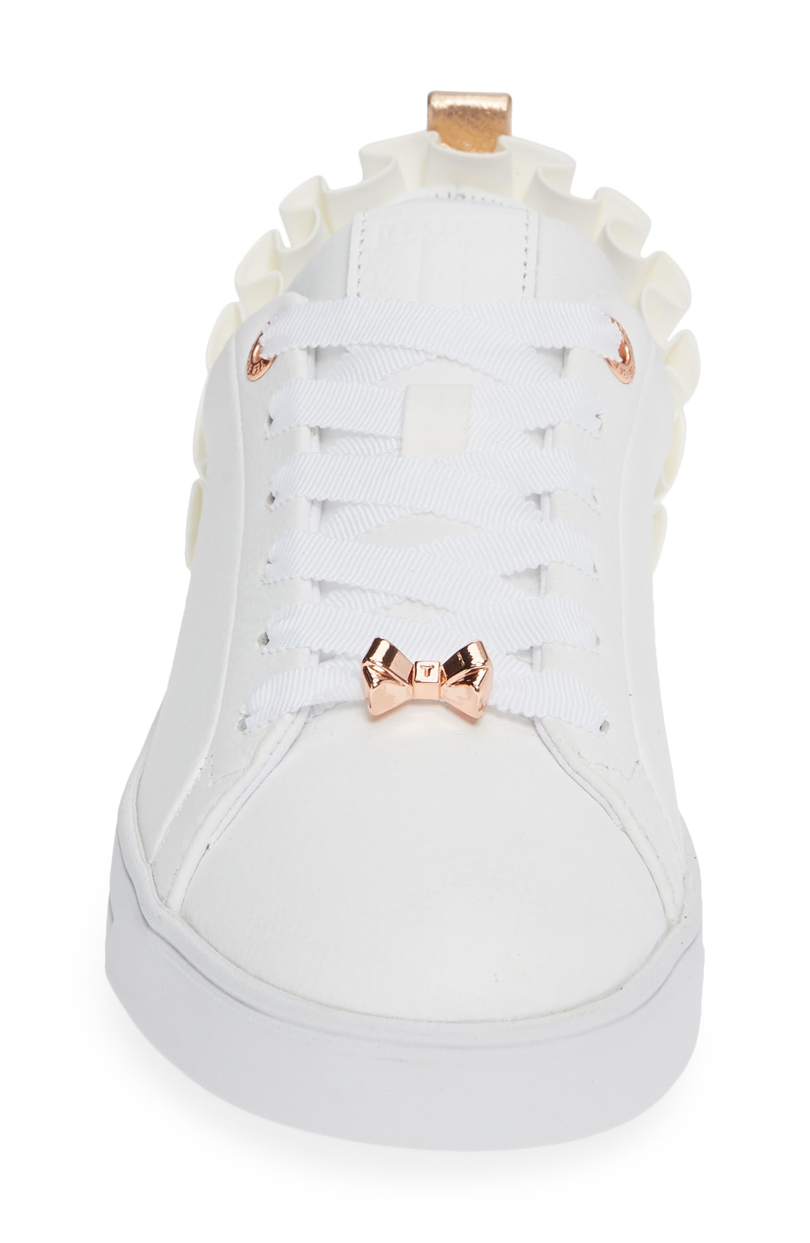 Astrina Sneaker,                             Alternate thumbnail 4, color,                             WHITE LEATHER