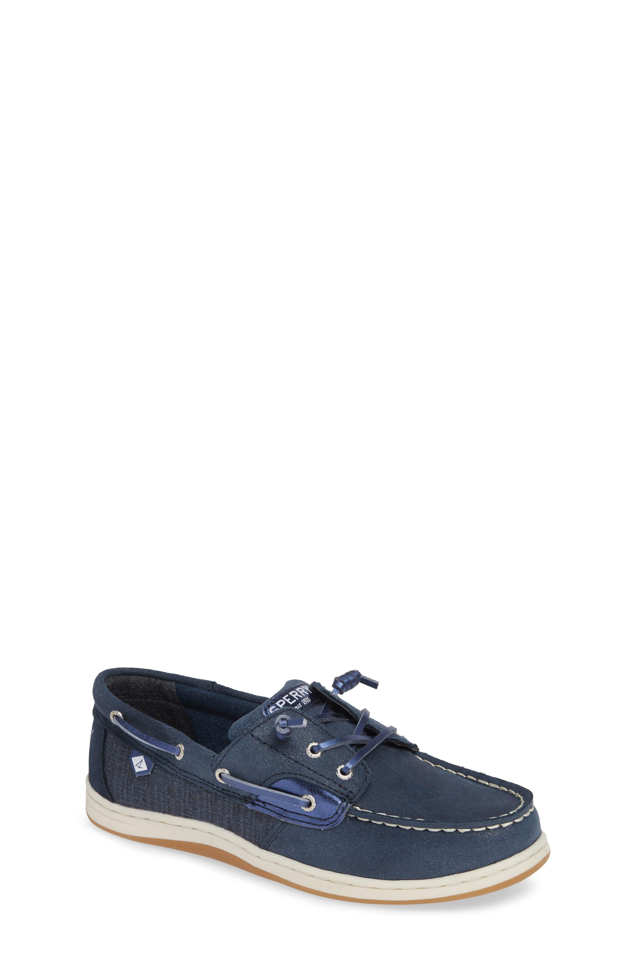 'Songfish Jr' Boat Shoe,                             Main thumbnail 1, color,                             410