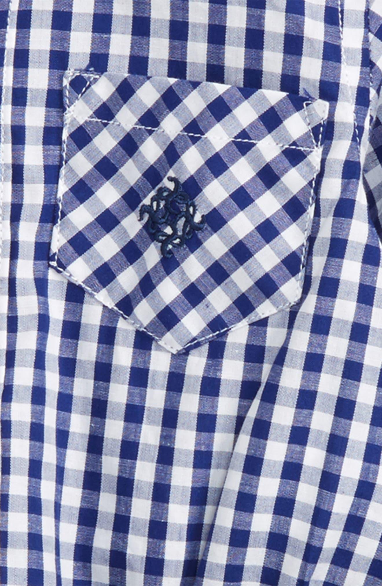 Shirtzie Gingham Bodysuit & Pants Set,                             Alternate thumbnail 2, color,                             410
