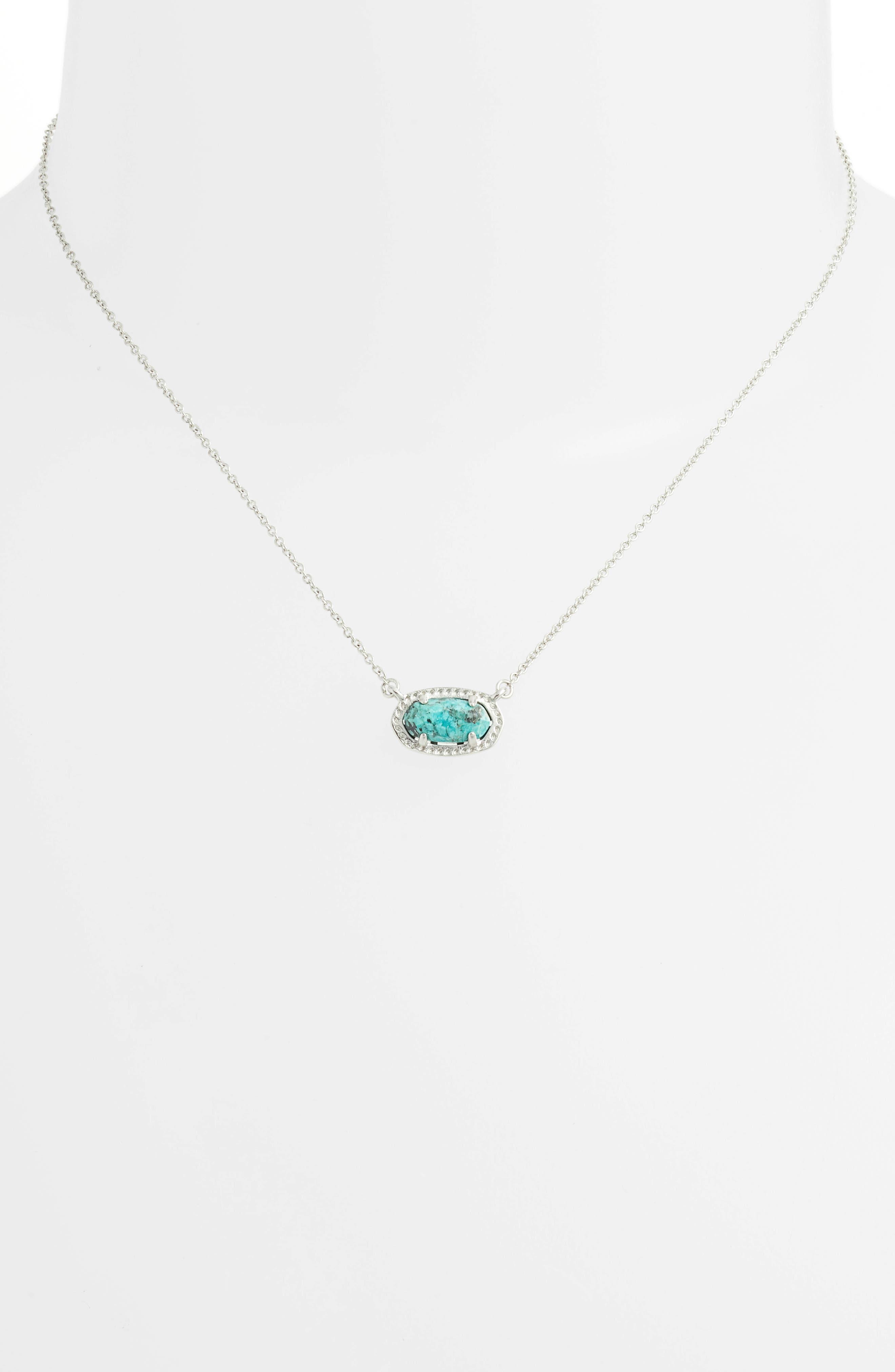 Ember Pendant Necklace,                             Alternate thumbnail 2, color,                             AFRICAN TURQUOISE/ SILVER