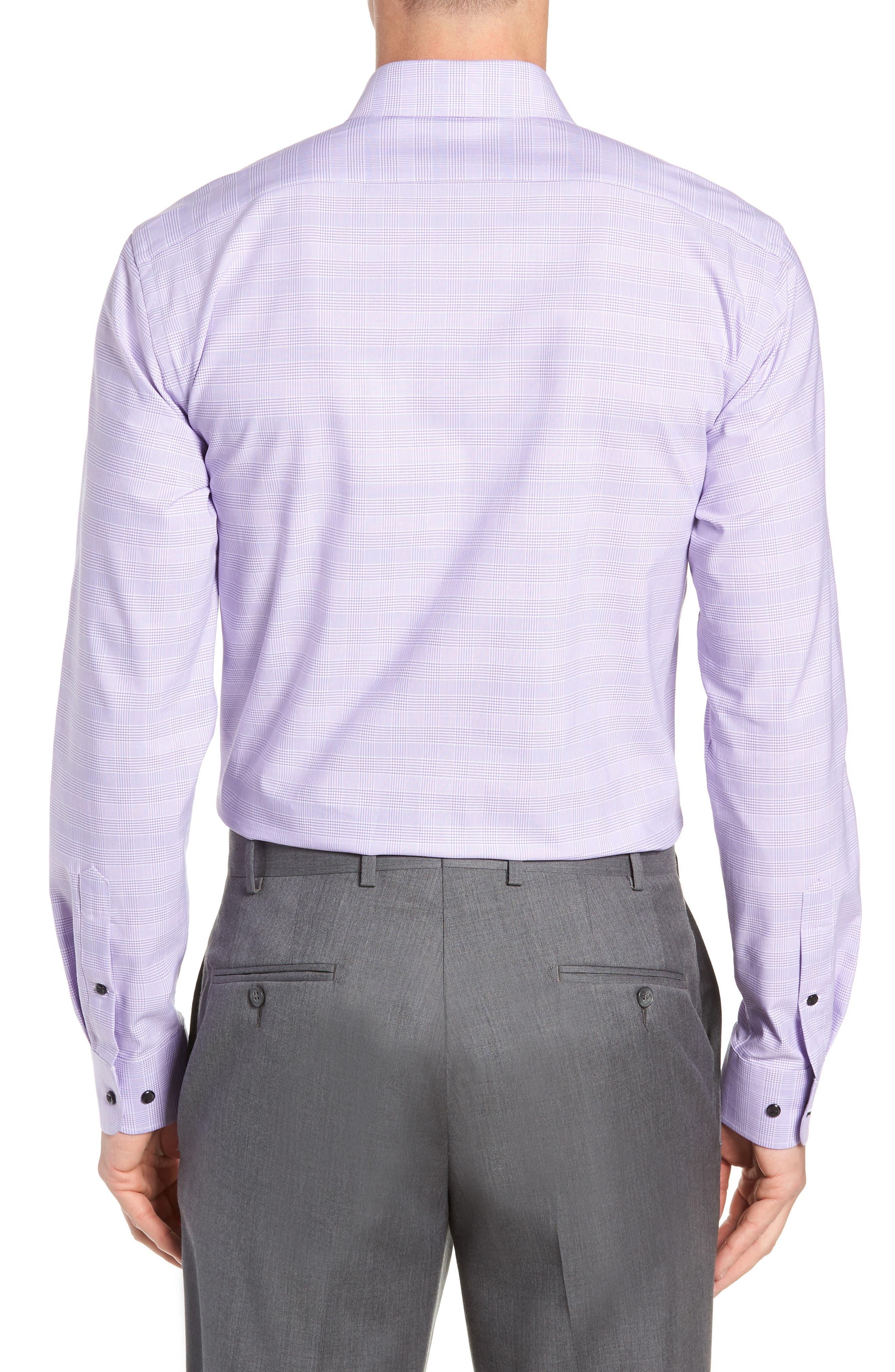 Tech-Smart Trim Fit Stretch Plaid Dress Shirt,                             Alternate thumbnail 10, color,