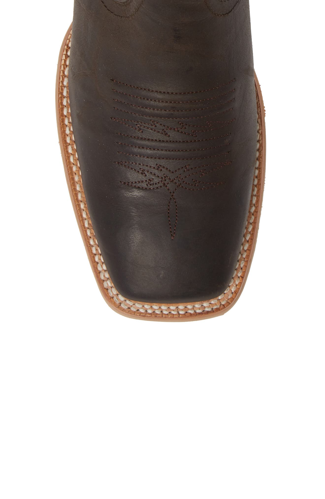 Arena Rebound Cowboy Boot,                             Alternate thumbnail 5, color,                             BROWN/ DESERT LEATHER