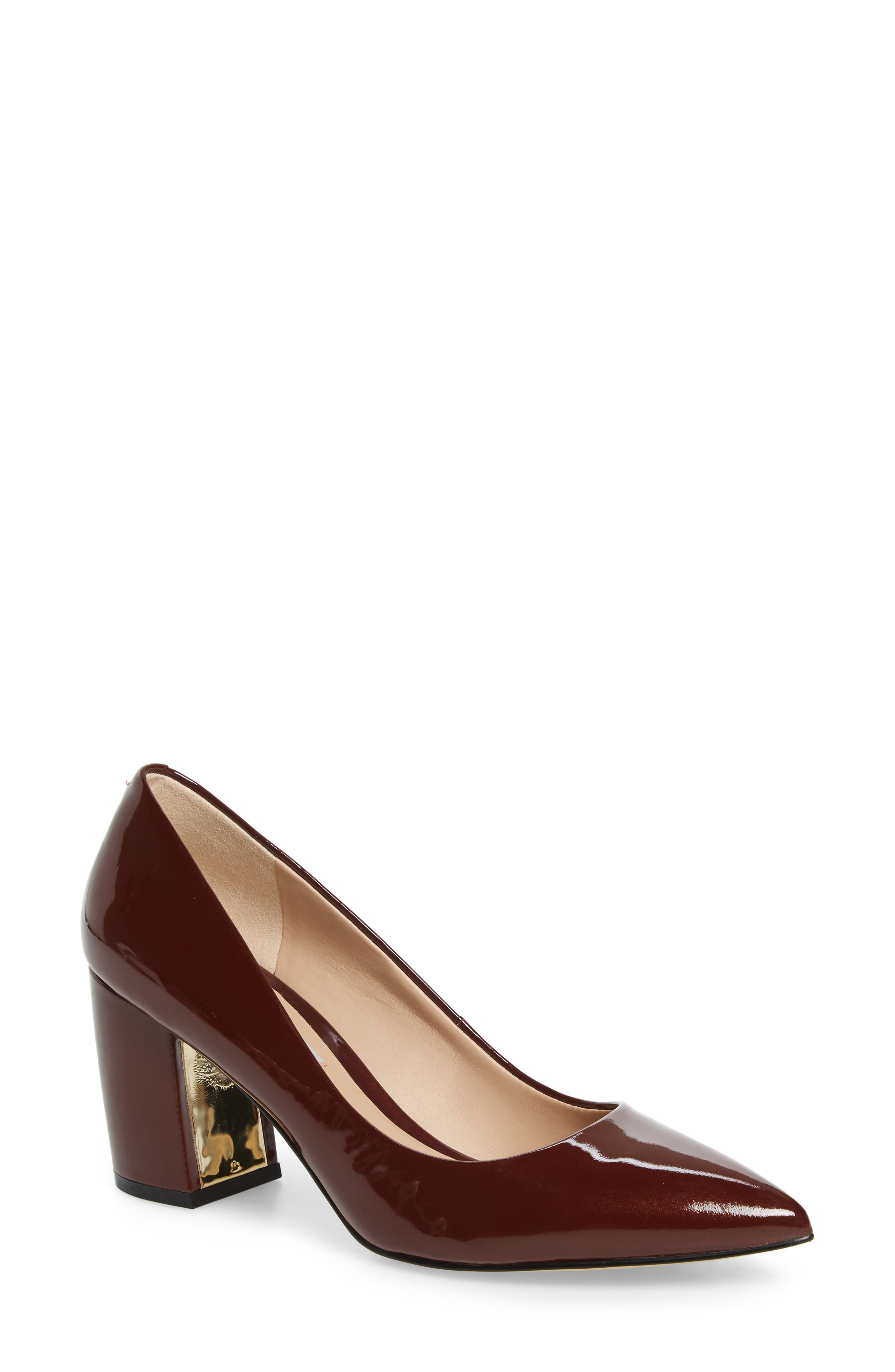 Addie Pump,                             Main thumbnail 1, color,                             BURGUNDY PATENT LEATHER