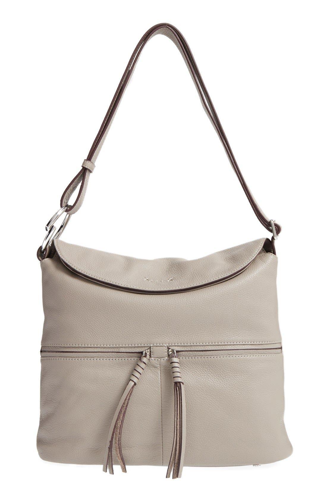 Finley Leather Hobo Bag,                             Main thumbnail 2, color,