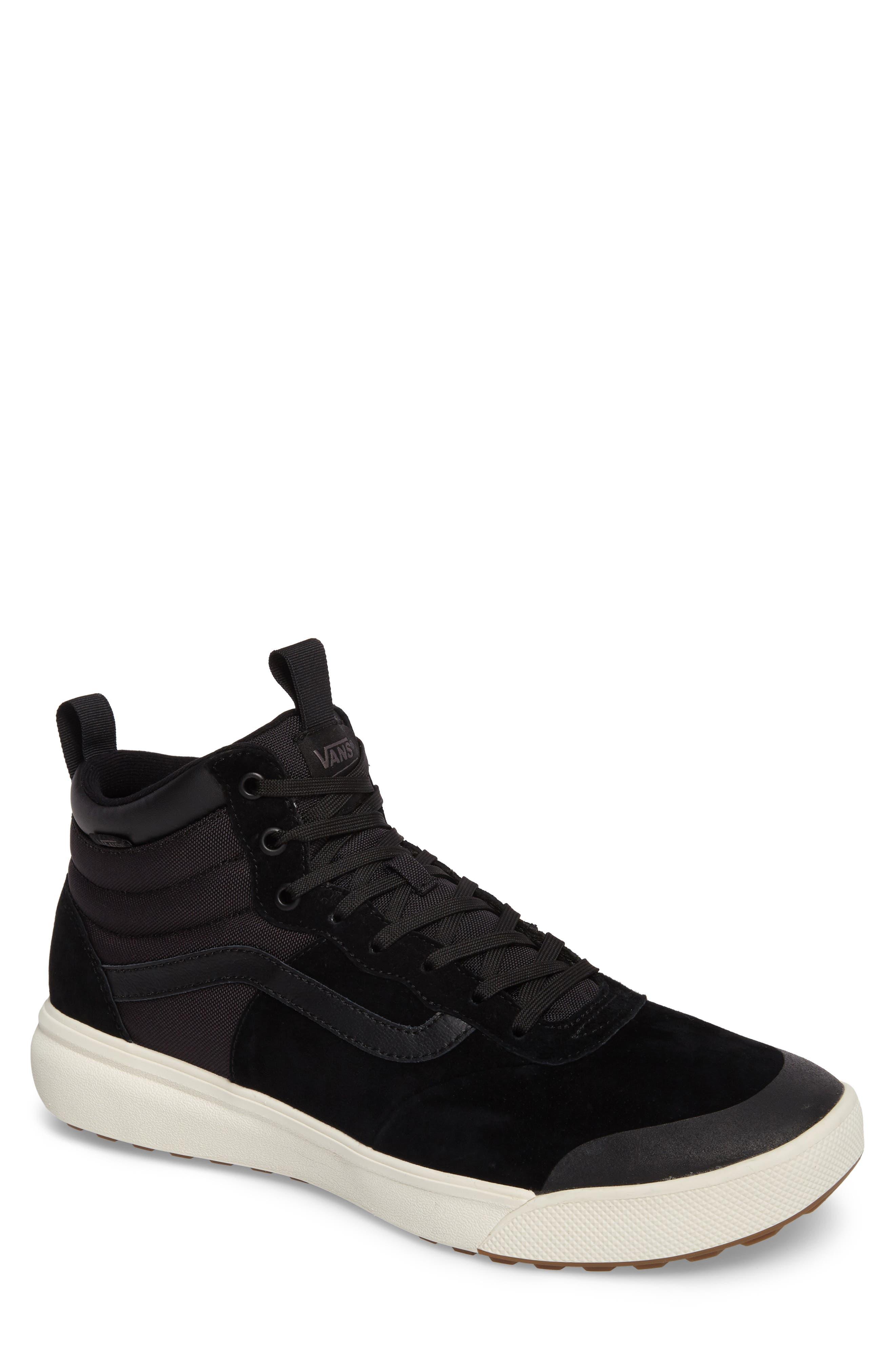 Ultrarange Hi Sneaker,                             Main thumbnail 1, color,                             BLACK SUEDE