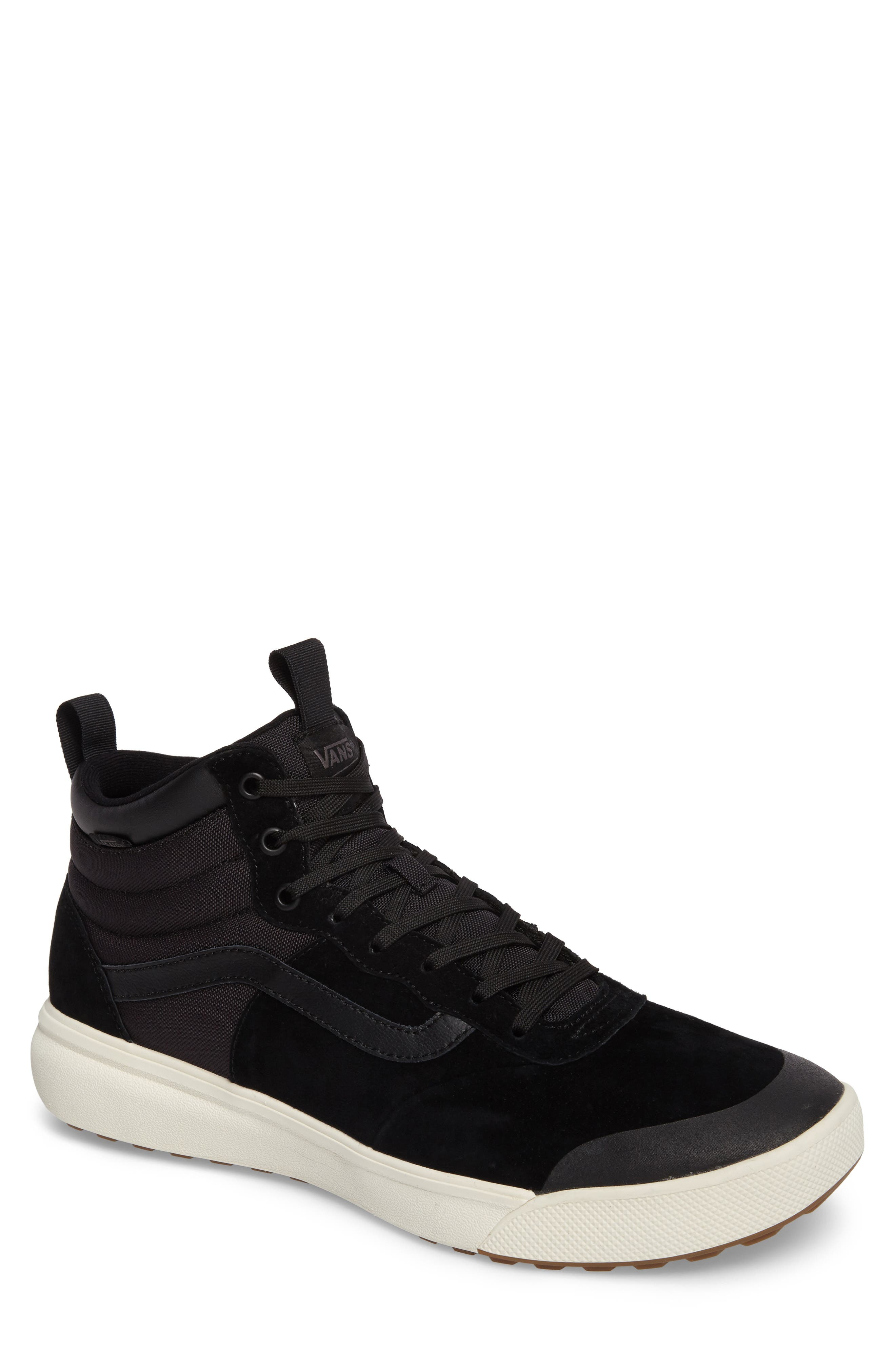 Ultrarange Hi Sneaker,                         Main,                         color, BLACK SUEDE