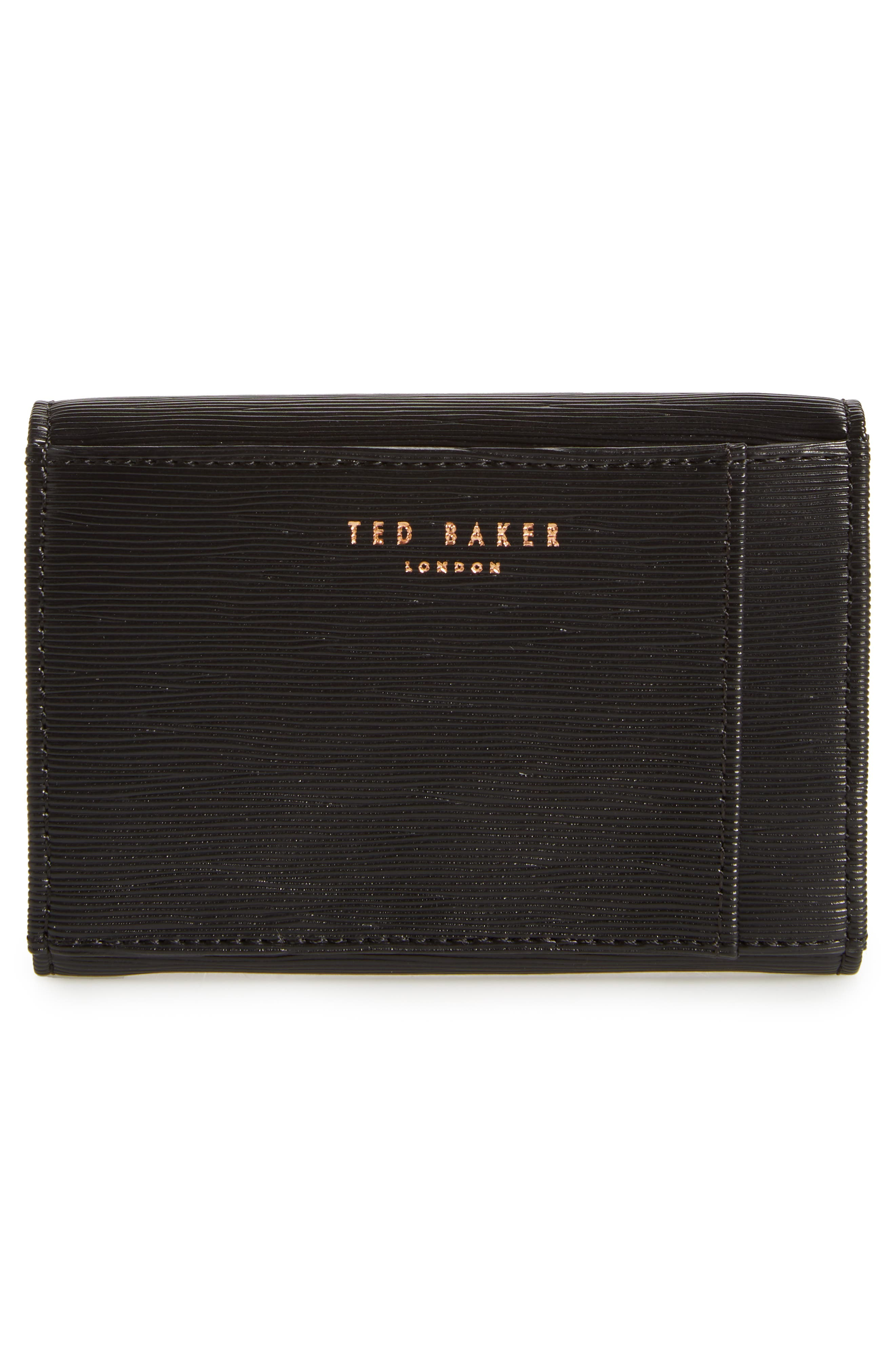 Valenta Plissé Leather Mini Wallet,                             Alternate thumbnail 7, color,