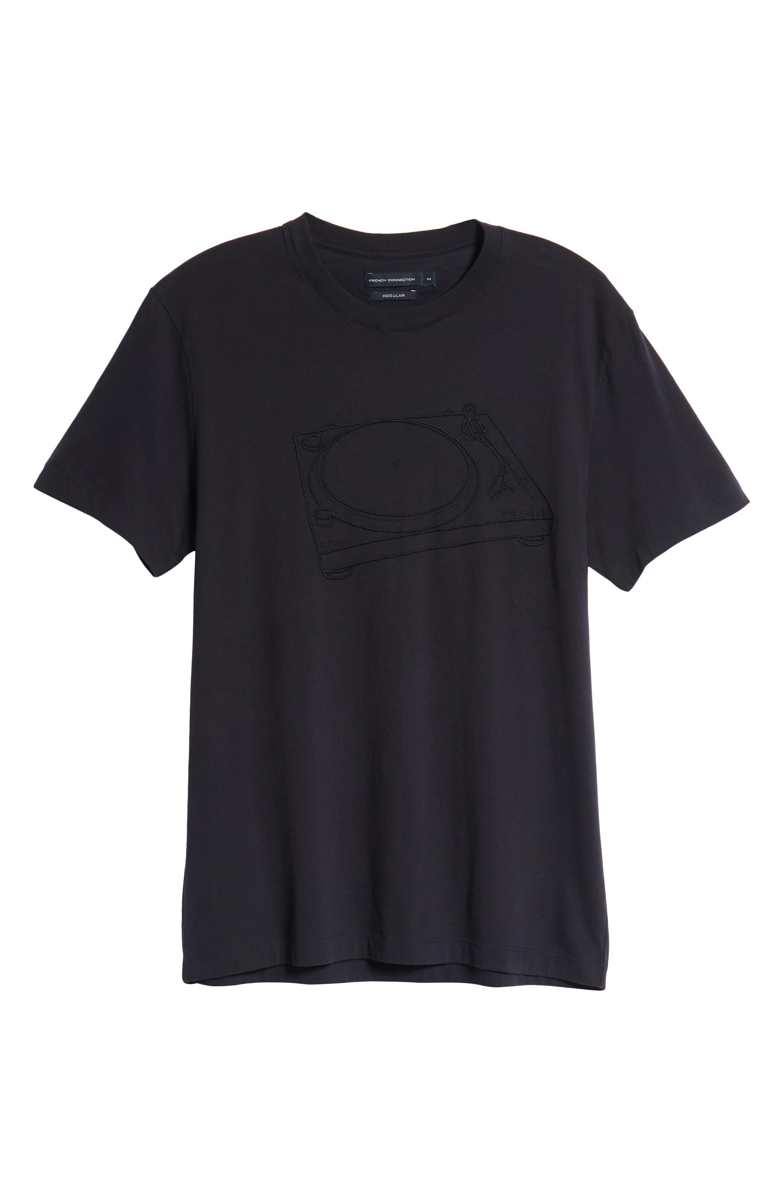 Decks Regular Fit Cotton T-Shirt,                             Alternate thumbnail 6, color,                             UTILITY BLUE BLACK