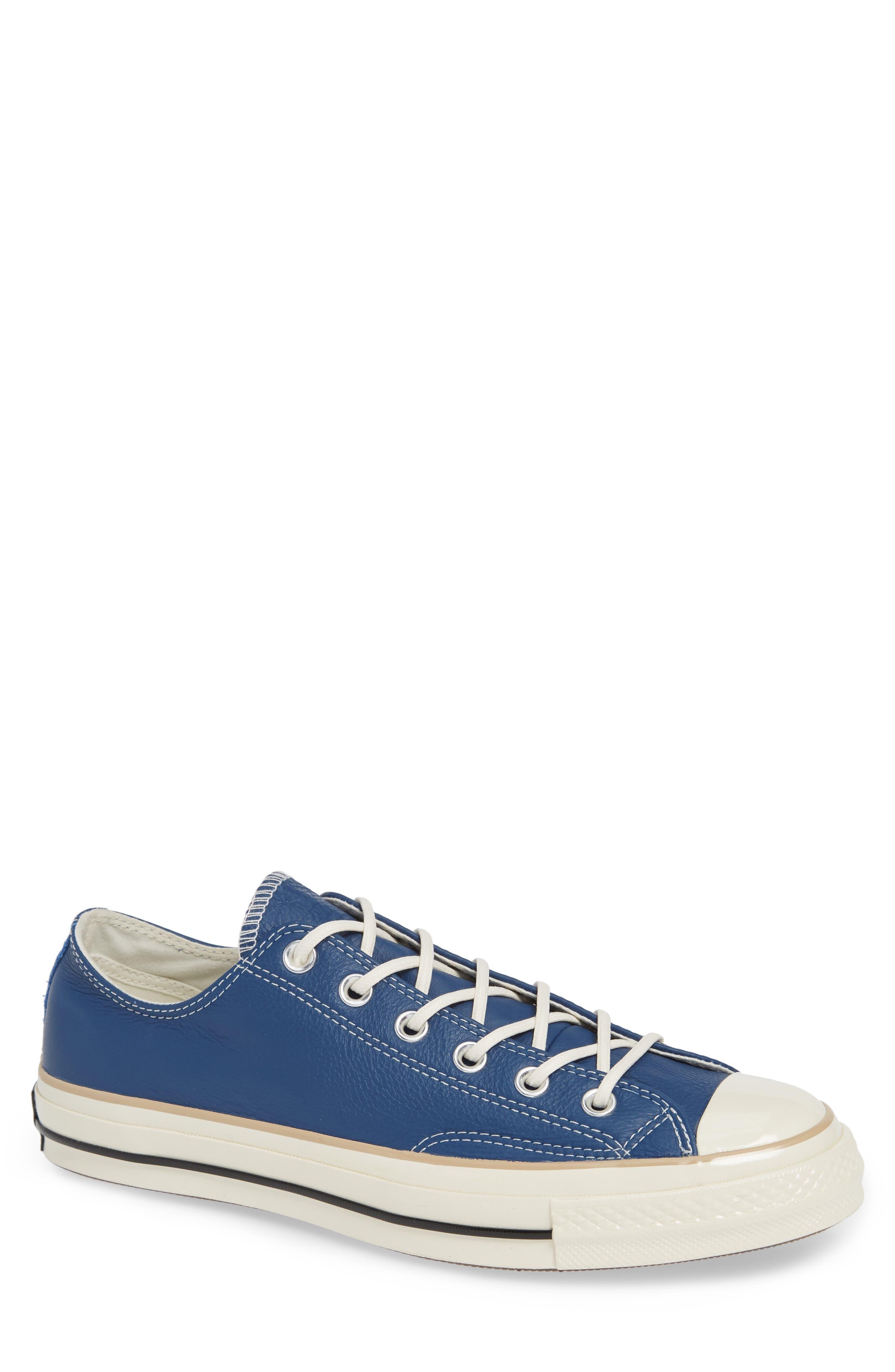 Chuck 70 Boot Leather Low Top Sneaker,                         Main,                         color, DARK BURGUNDY/ CYAN/ EGRET