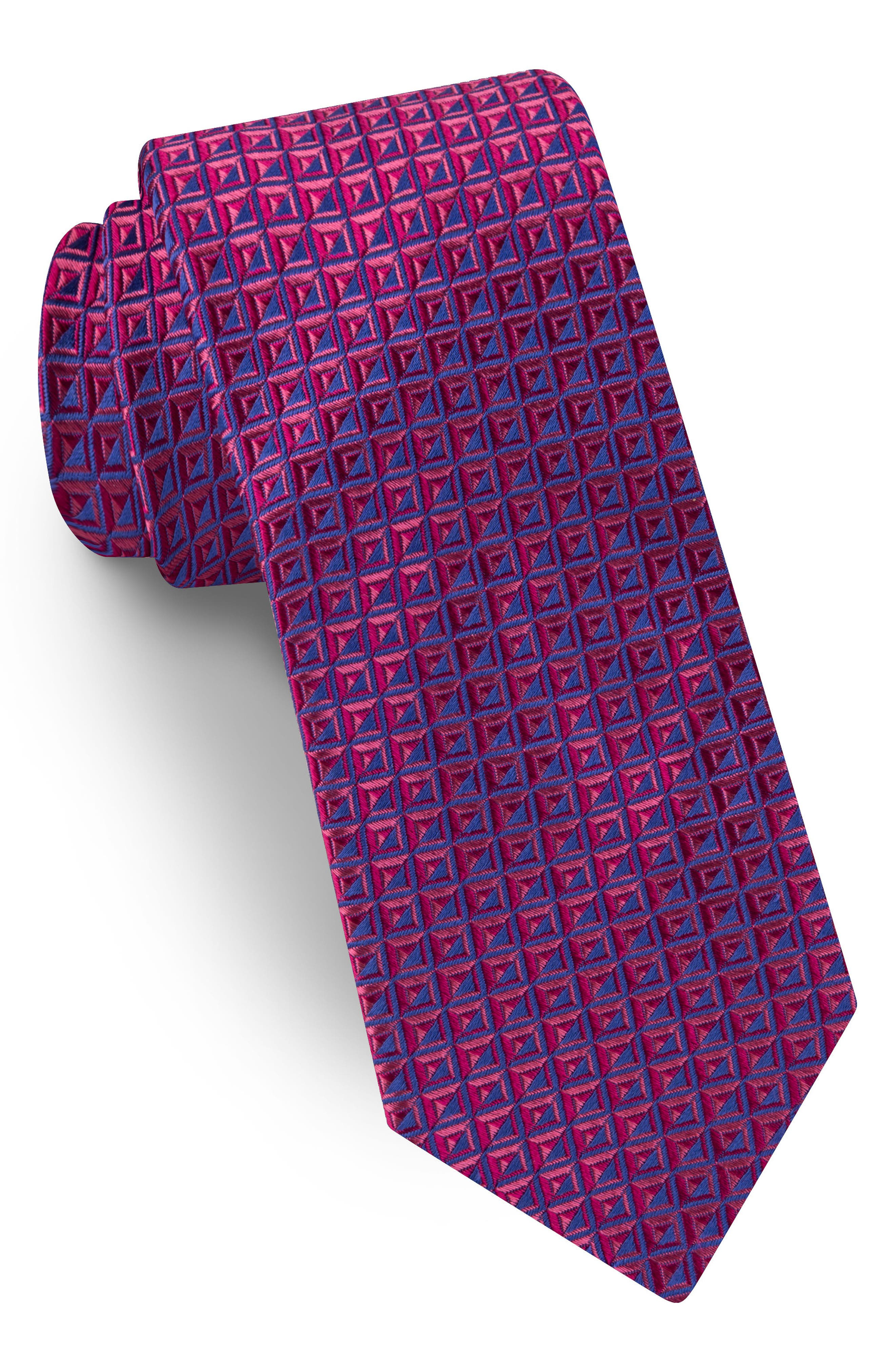 Geometric Silk Tie,                             Main thumbnail 1, color,                             600