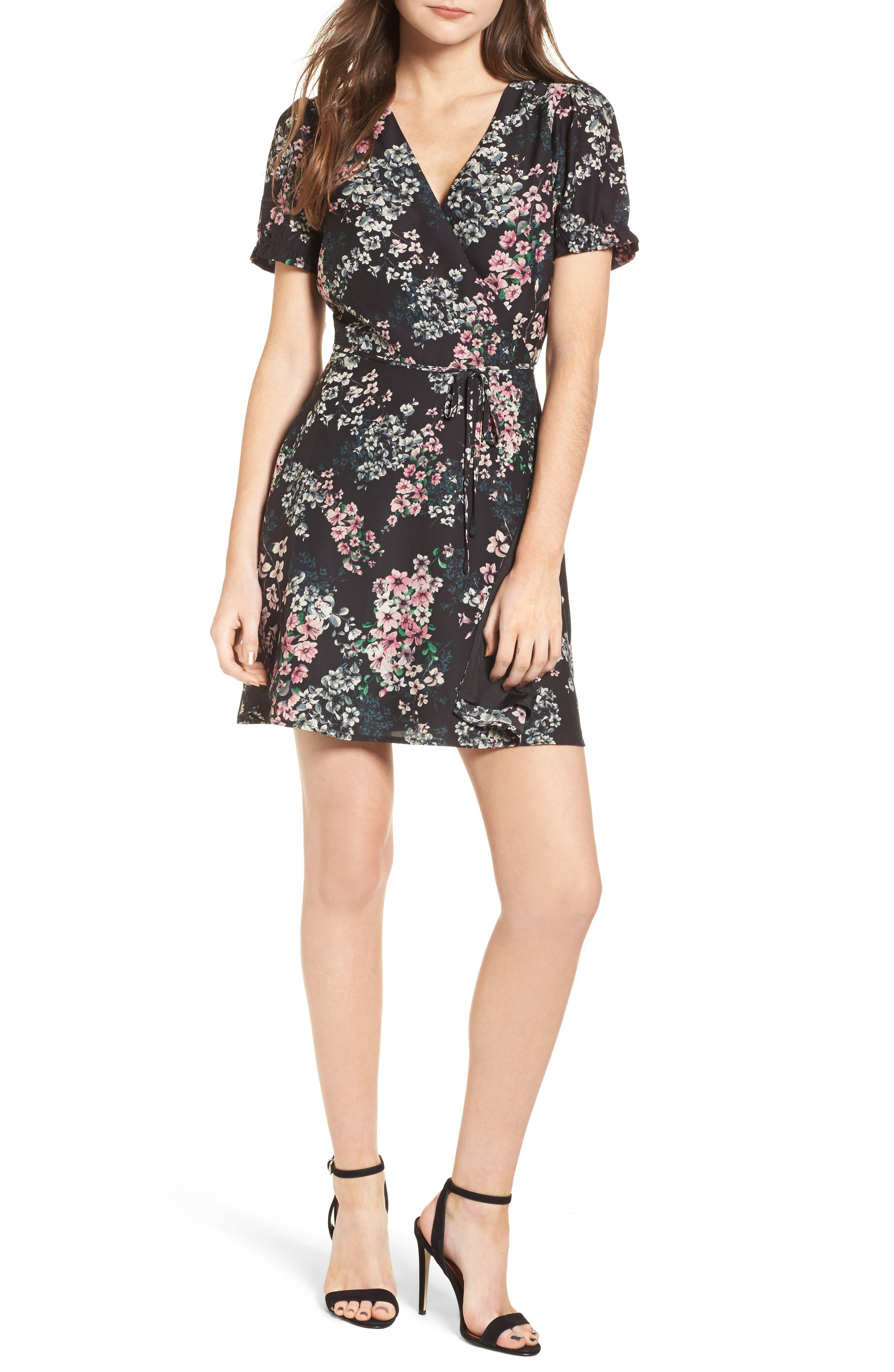 Dezzi Fit & Flare Dress,                         Main,                         color, 001