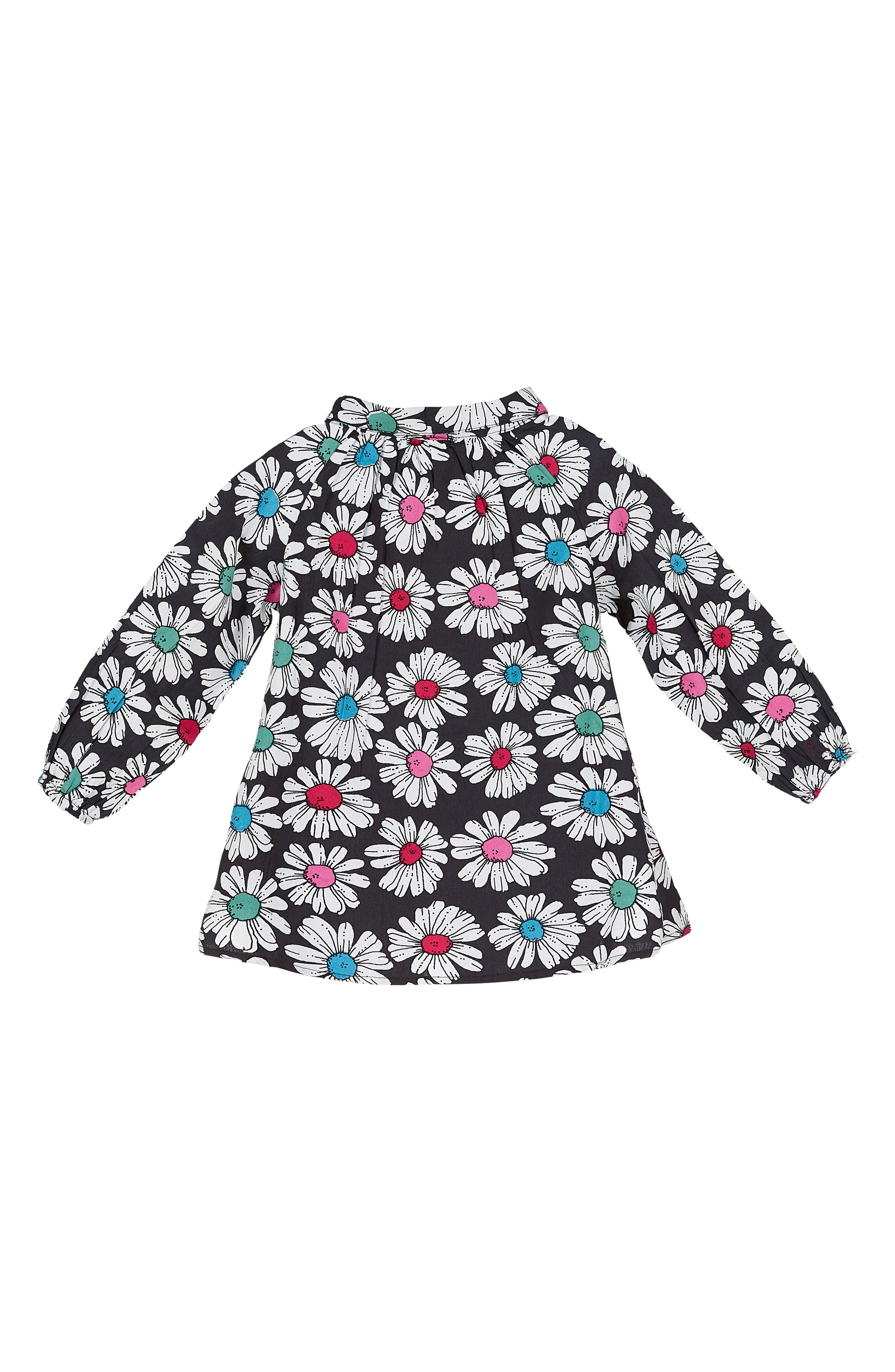 Floral Print Pleated Shirt,                         Main,                         color, 001