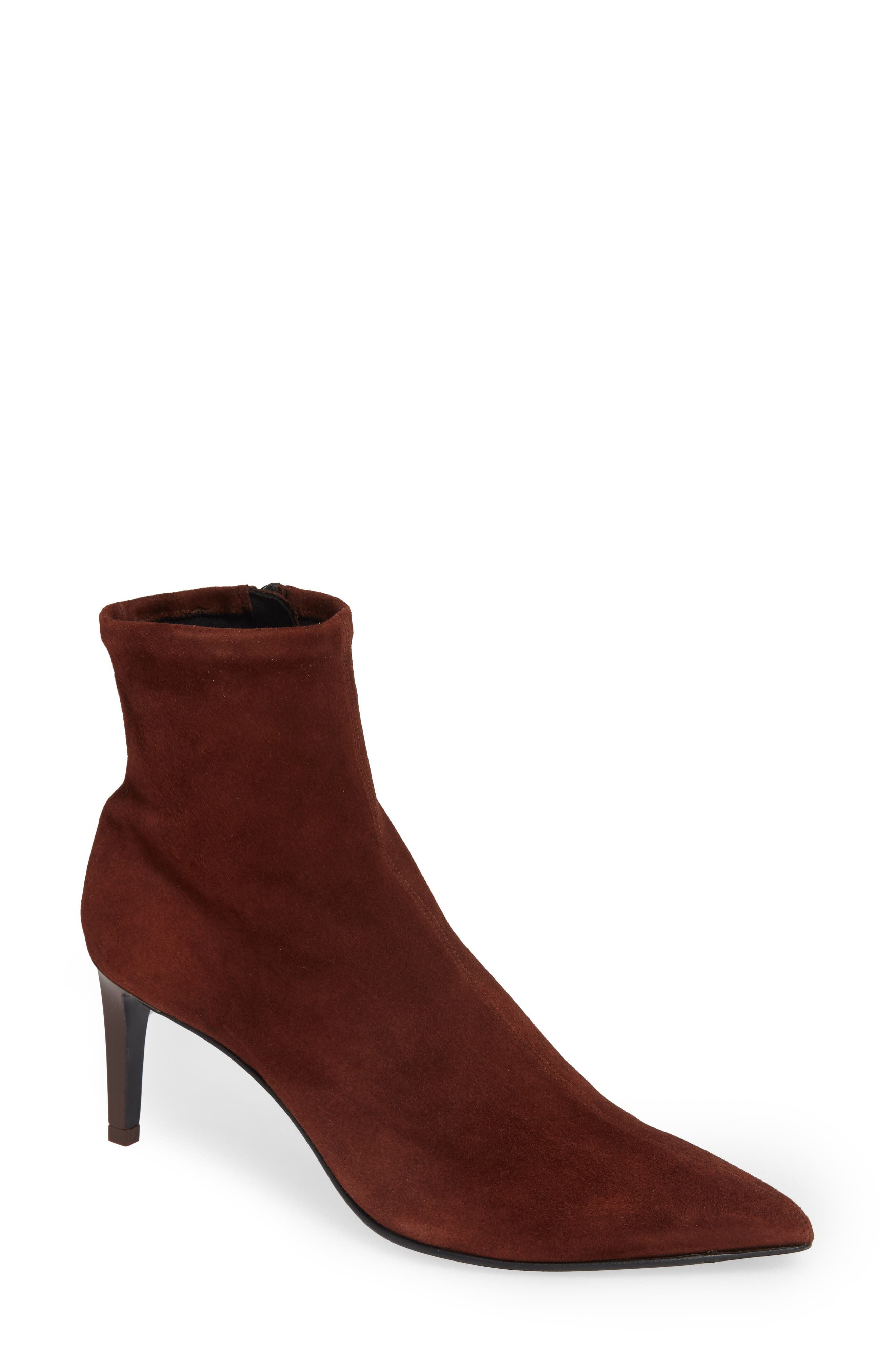 Beha Stretch Bootie,                             Main thumbnail 1, color,                             MAHOGANY SUEDE