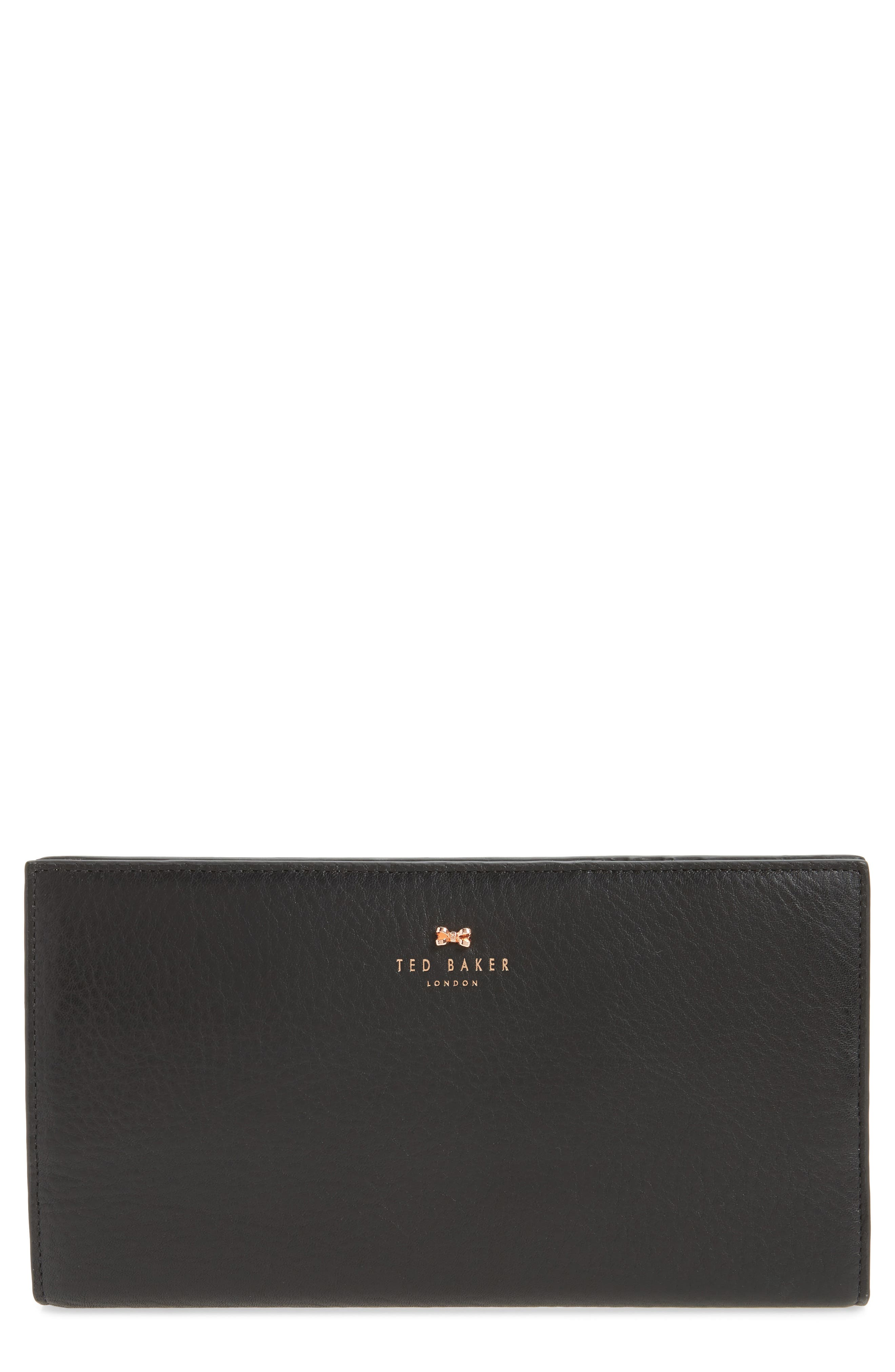 Dolle Leather Travel Wallet,                             Main thumbnail 1, color,                             001