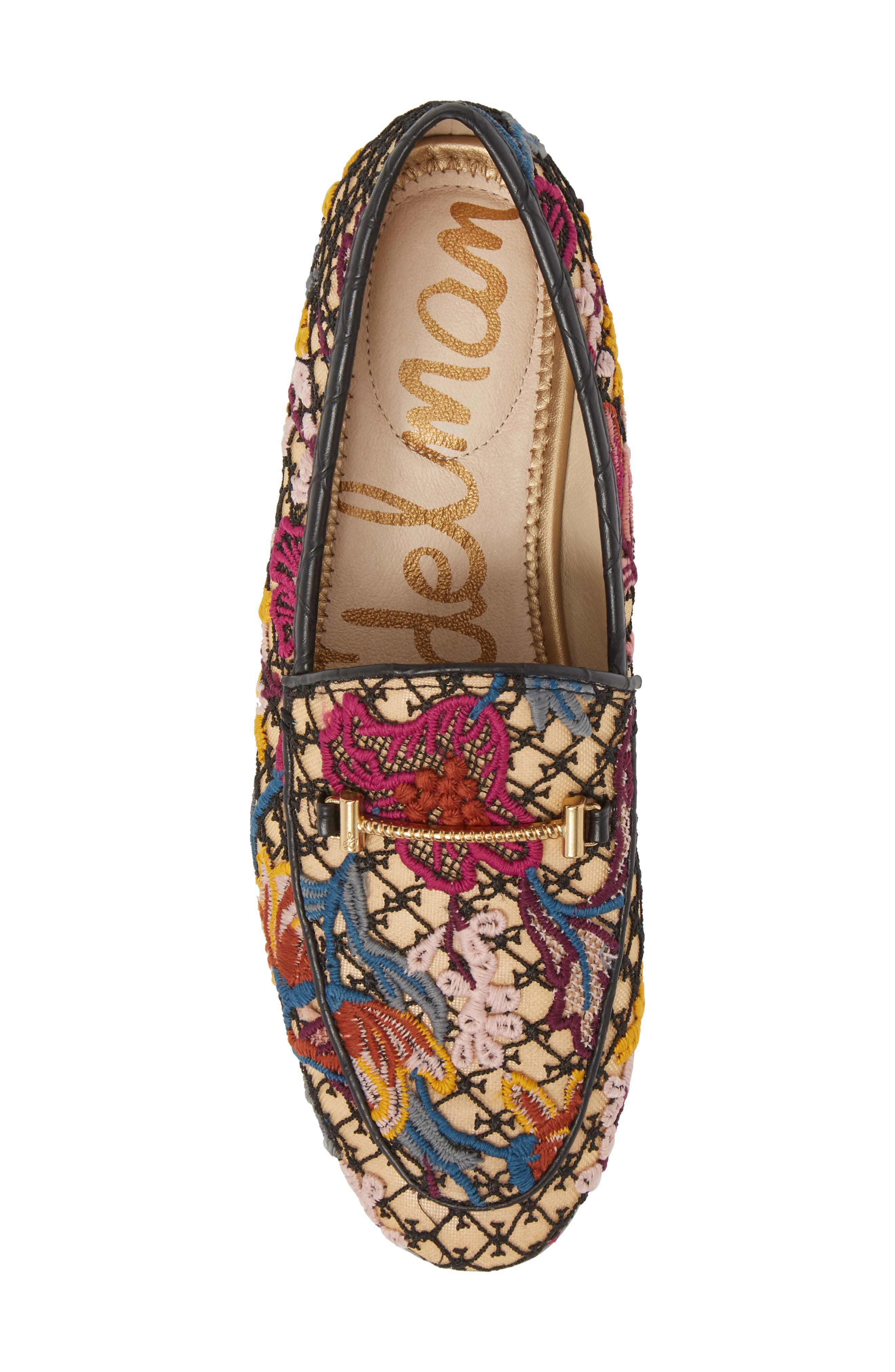 Lior Loafer,                             Alternate thumbnail 5, color,                             BRIGHT MULTI FLORAL LACE