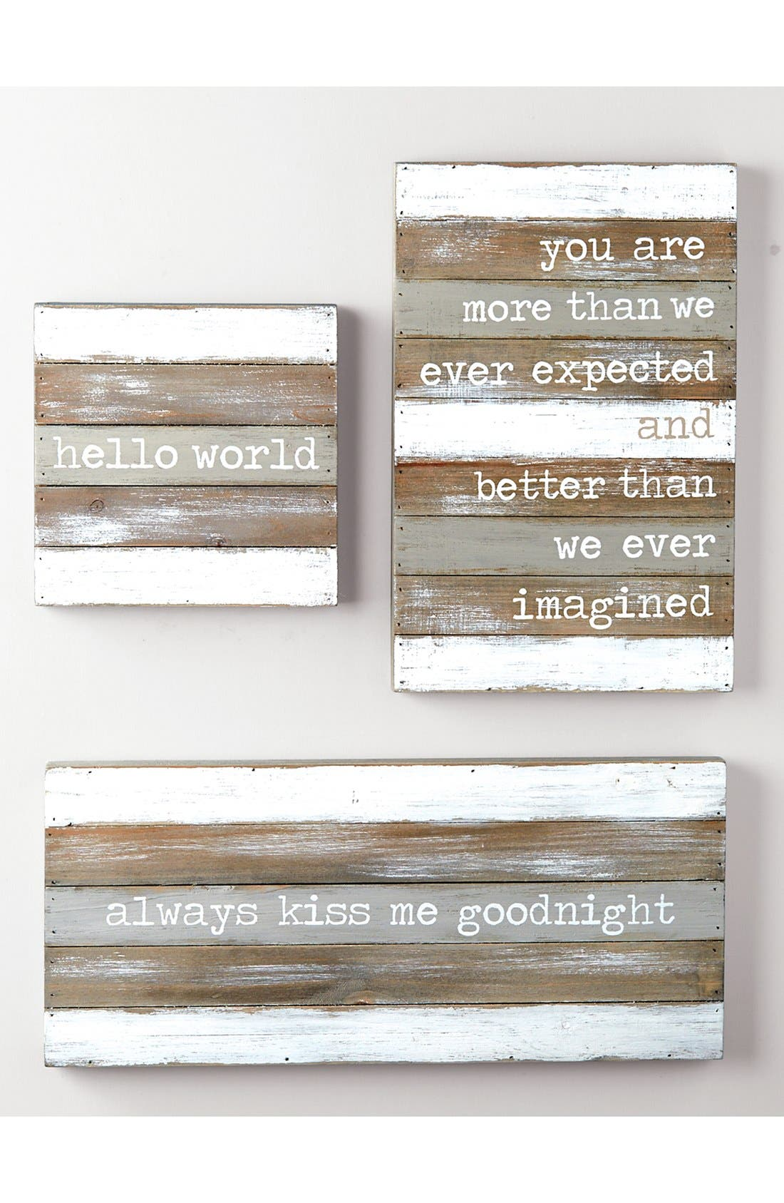 'Better Than We Ever Imagined' Wood Wall Art,                             Alternate thumbnail 2, color,                             GREY