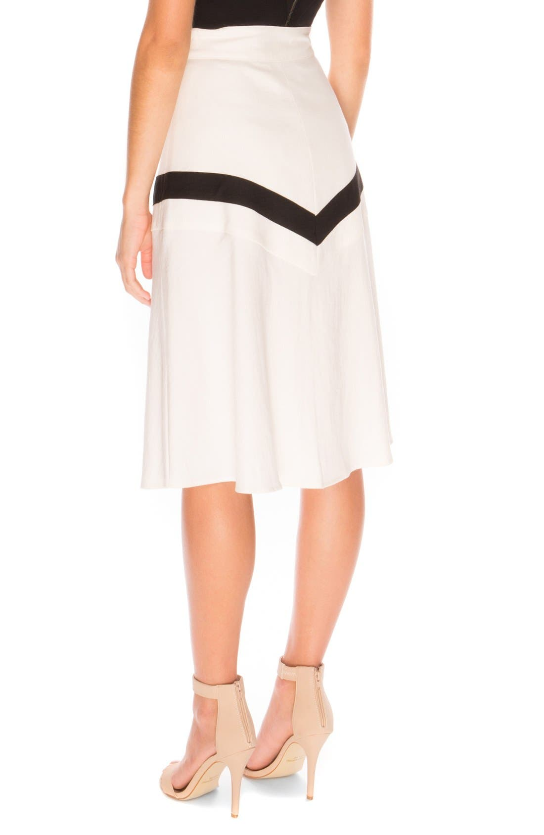 the Label 'Lay it Down' Front Slit Skirt,                             Alternate thumbnail 4, color,                             900
