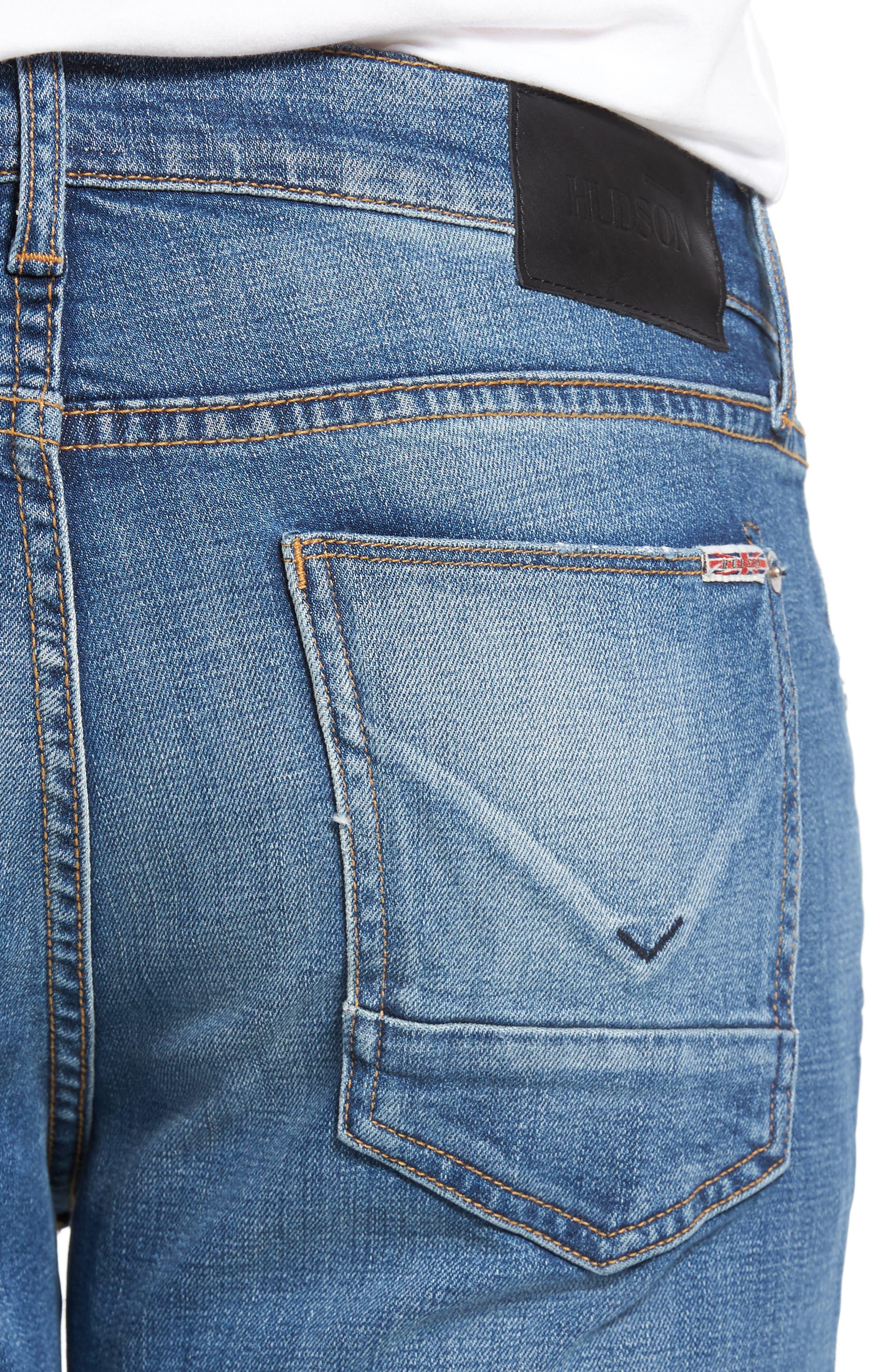 Byron Slim Straight Leg Jeans,                             Alternate thumbnail 4, color,                             453