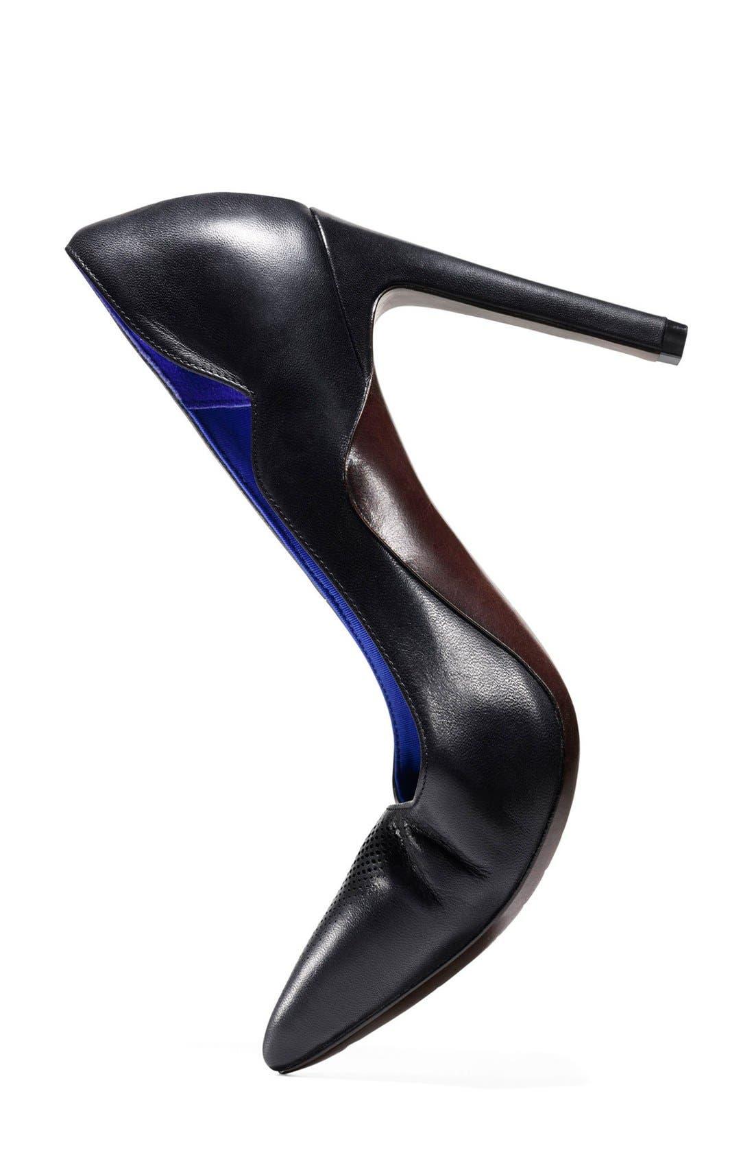 'Antoinette Grand' Pointy Toe Pump,                             Alternate thumbnail 5, color,                             001