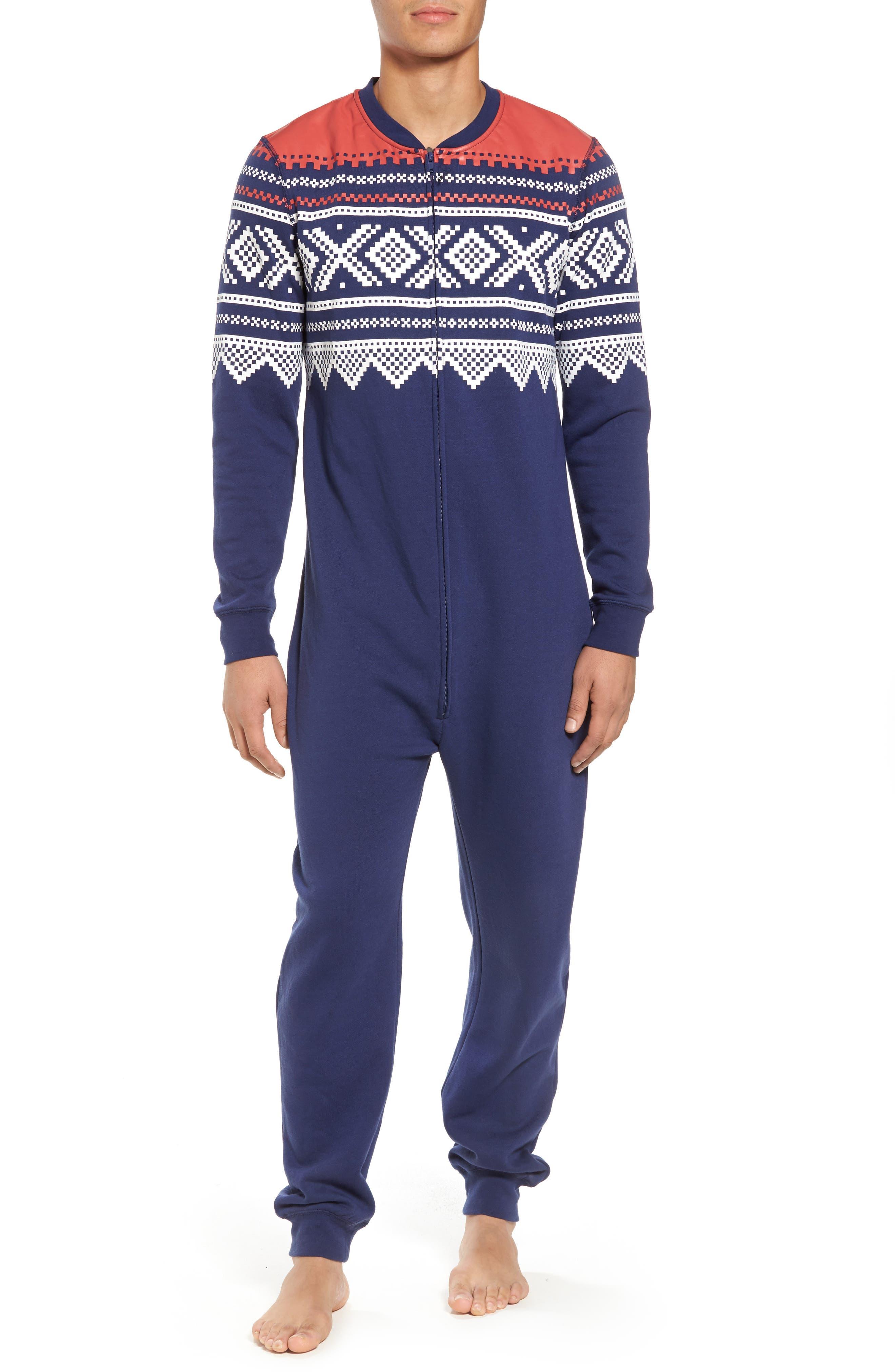 Fleece One-Piece Pajamas,                             Main thumbnail 1, color,                             040