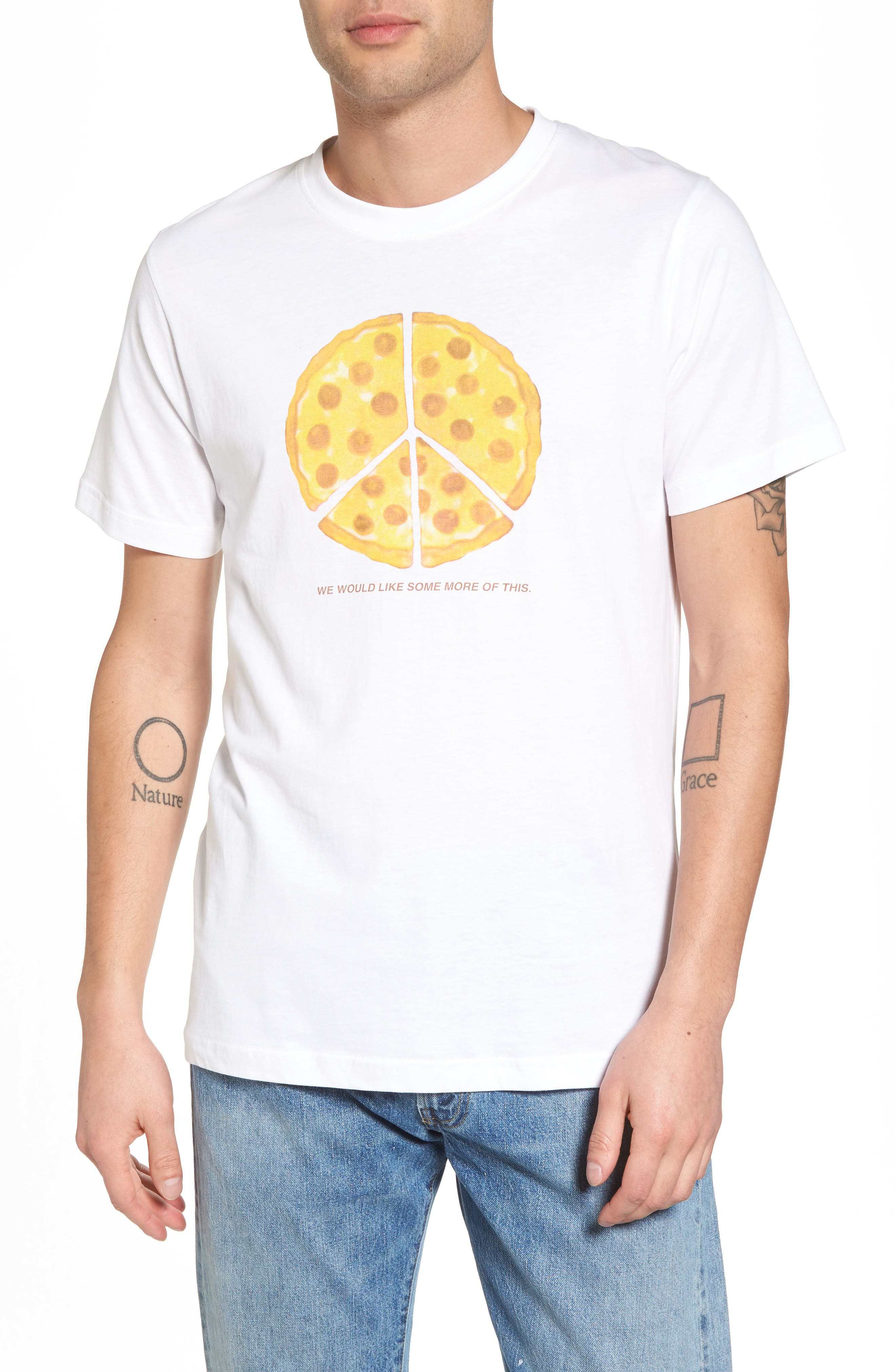 Max Peace Pizza Graphic T-Shirt,                         Main,                         color, 100