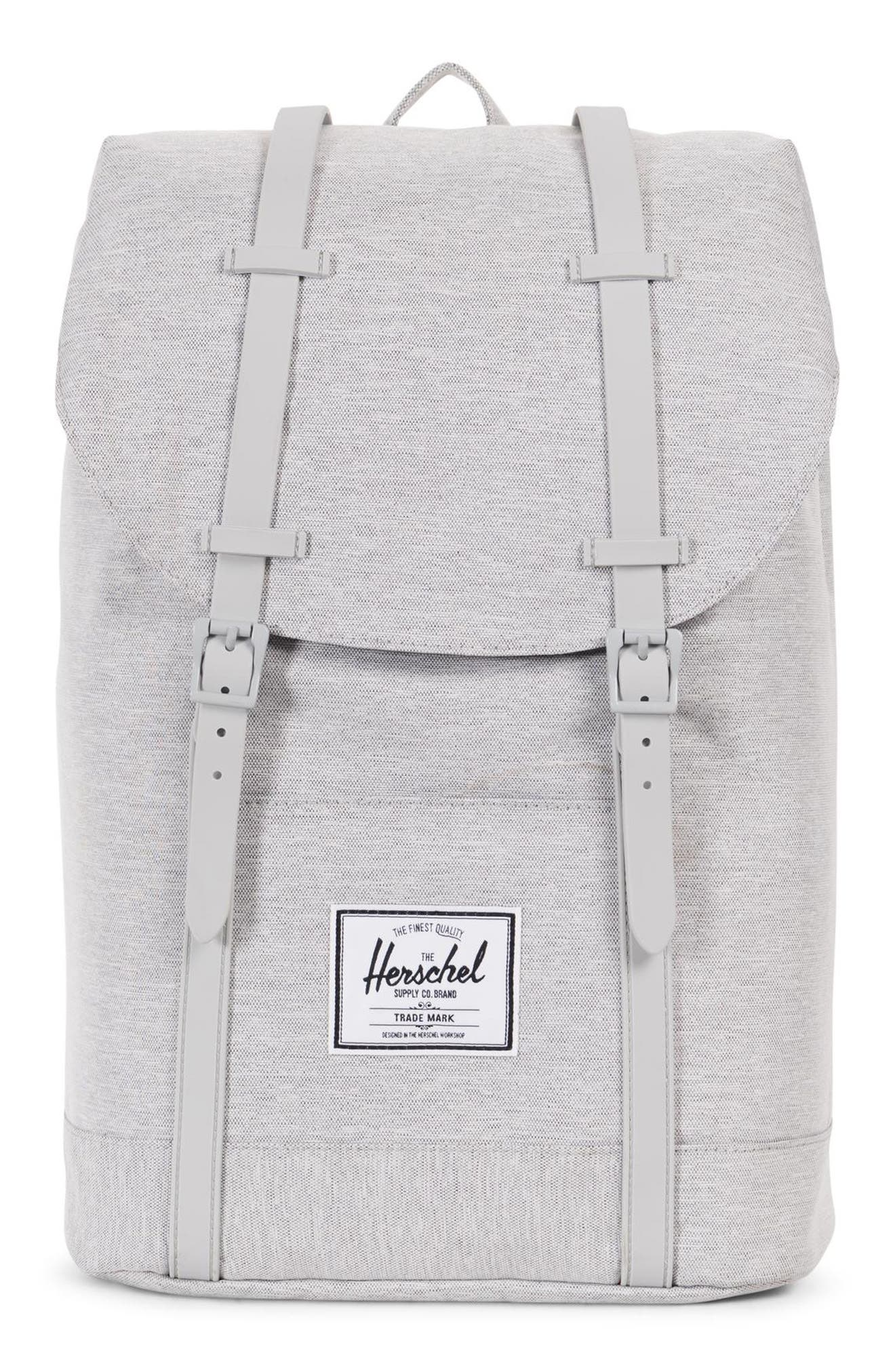 Retreat Backpack, Main, color, LIGHT GREY CROSSHATCH/ GREY