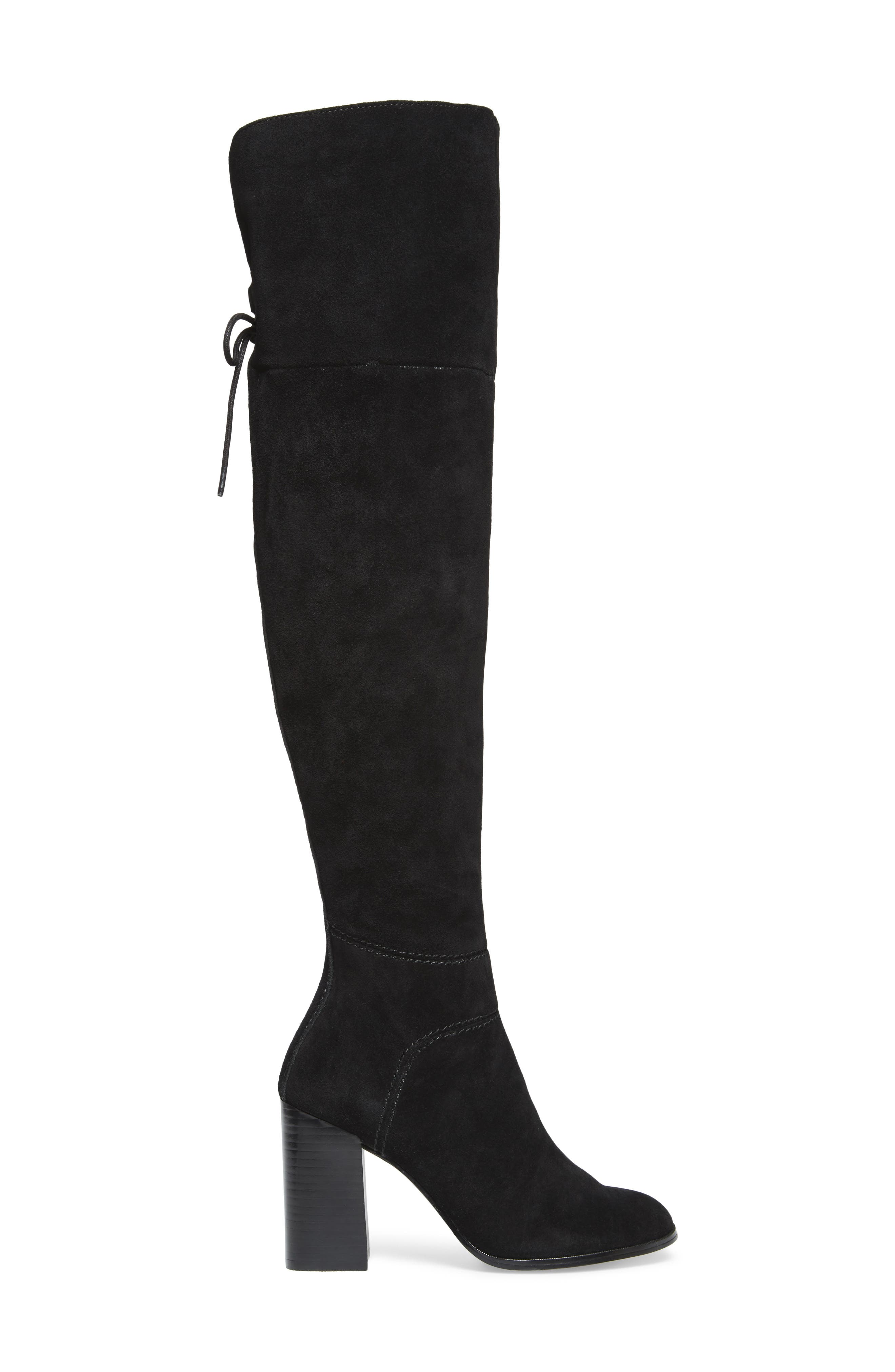 Novela Cuffable Over the Knee Boot,                             Alternate thumbnail 3, color,                             006