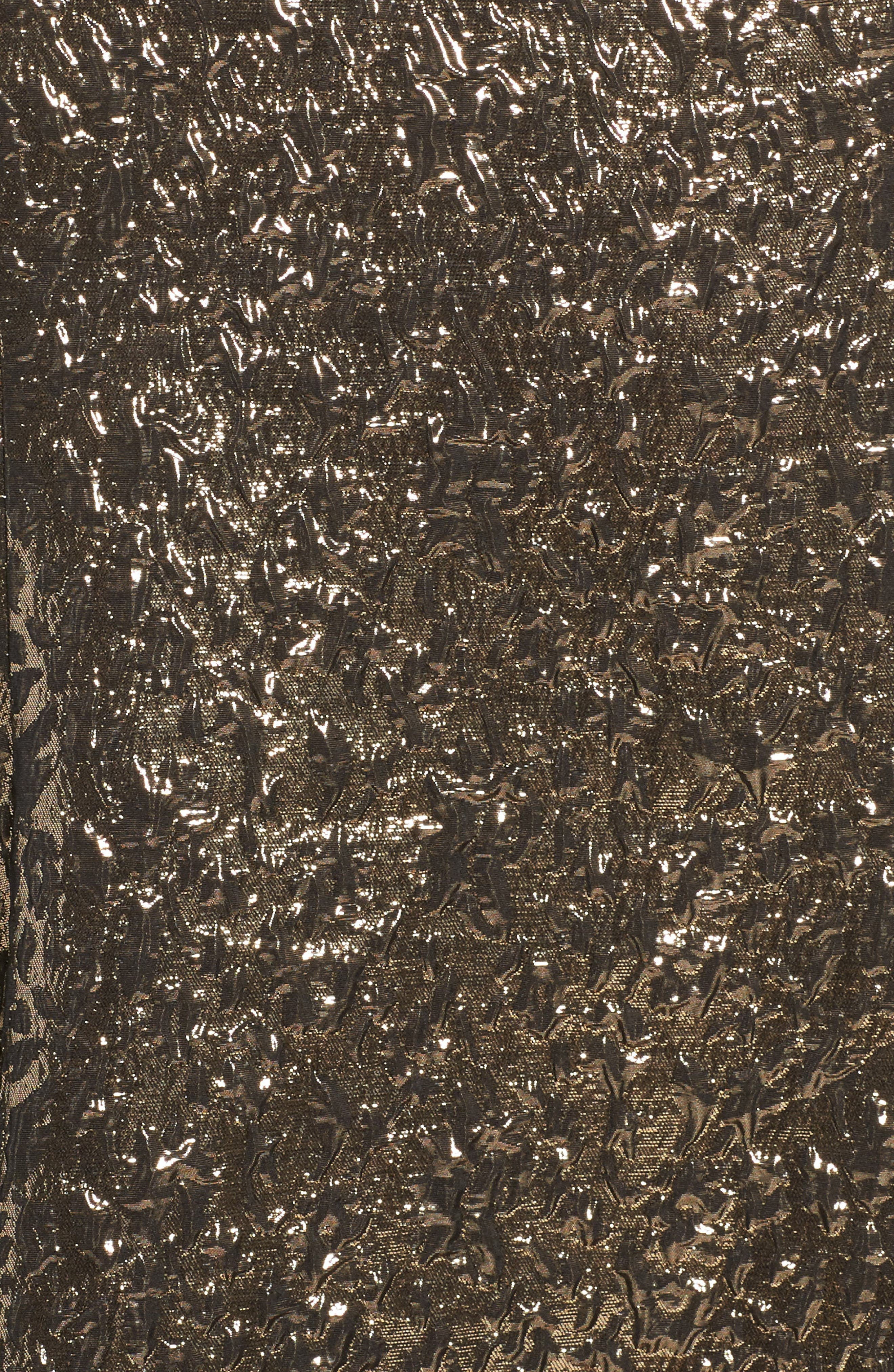 One-Shoulder Metallic Ballgown,                             Alternate thumbnail 5, color,                             ANTIQUE / GOLD