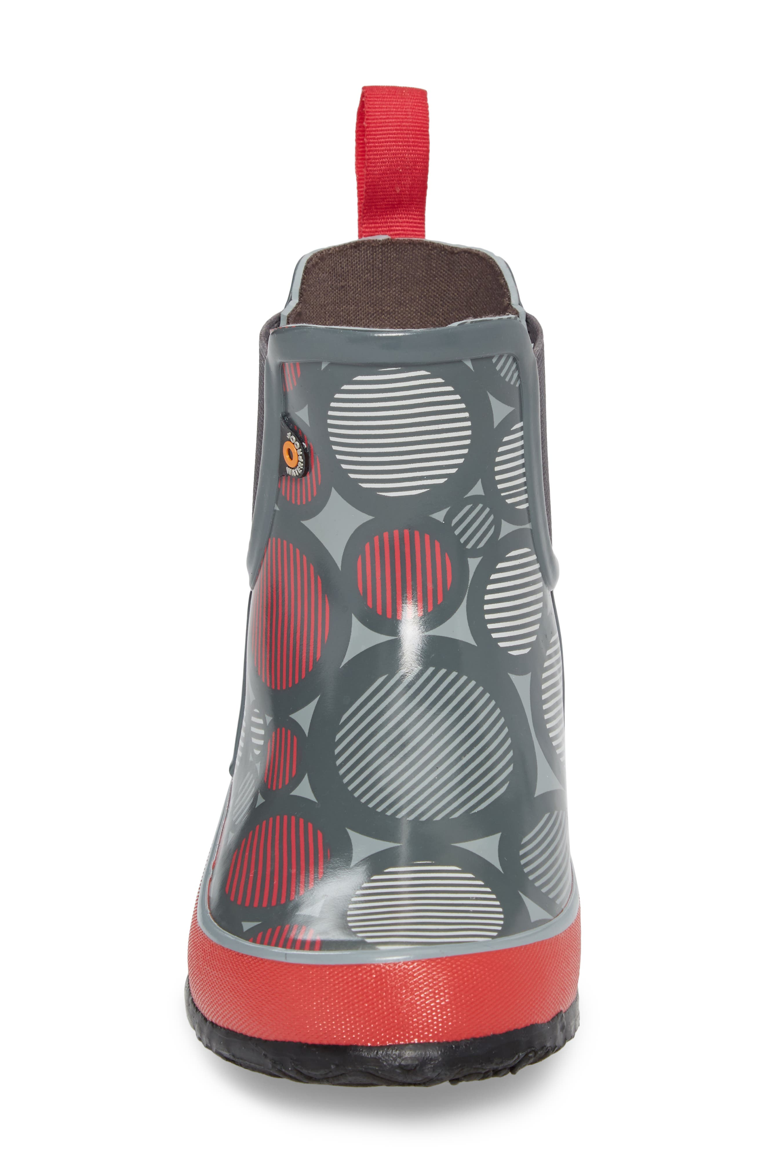 Amanda Multi Dot Waterproof Rain Boot,                             Alternate thumbnail 4, color,                             062