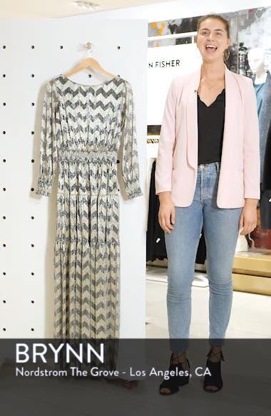 Grey Metallic Zigzag Maxi Dress, sales video thumbnail
